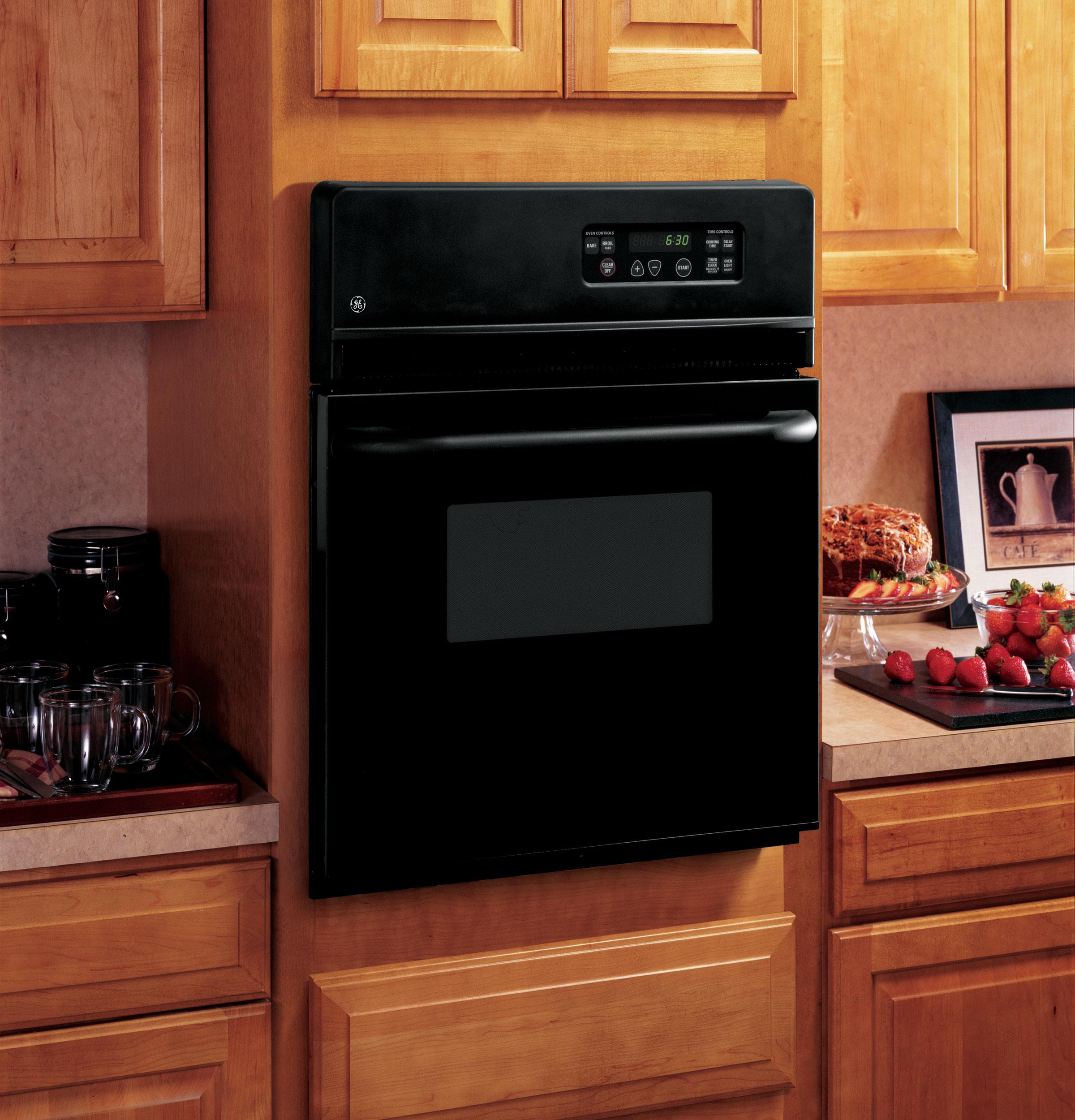 "Model: JRS06BJBB | GE GE® 24"" Electric Single Standard Clean Wall Oven"