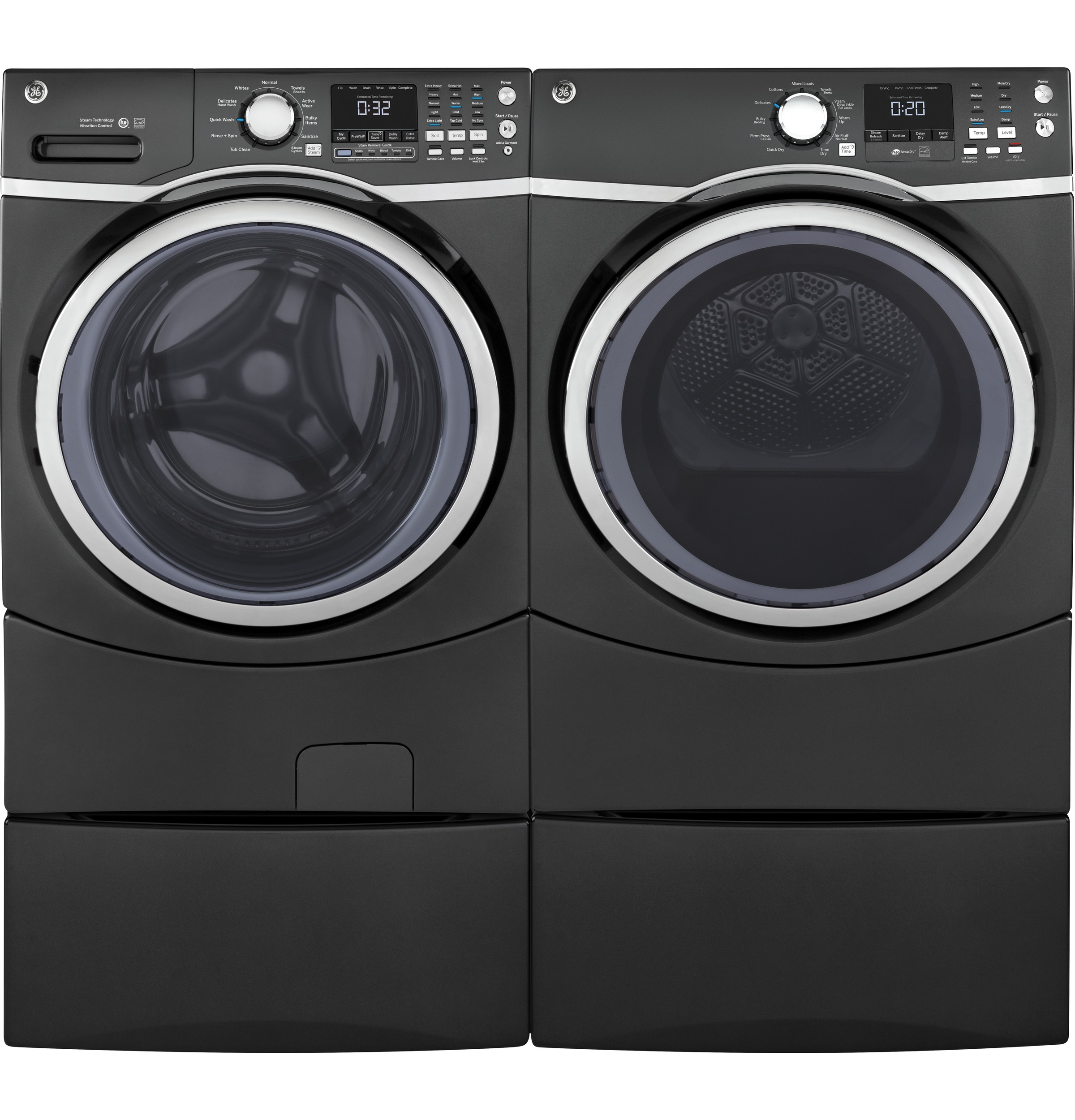 Model: GFD45ESPMDG | GE® 7.5 cu. ft. Capacity Front Load Electric Dryer with Steam