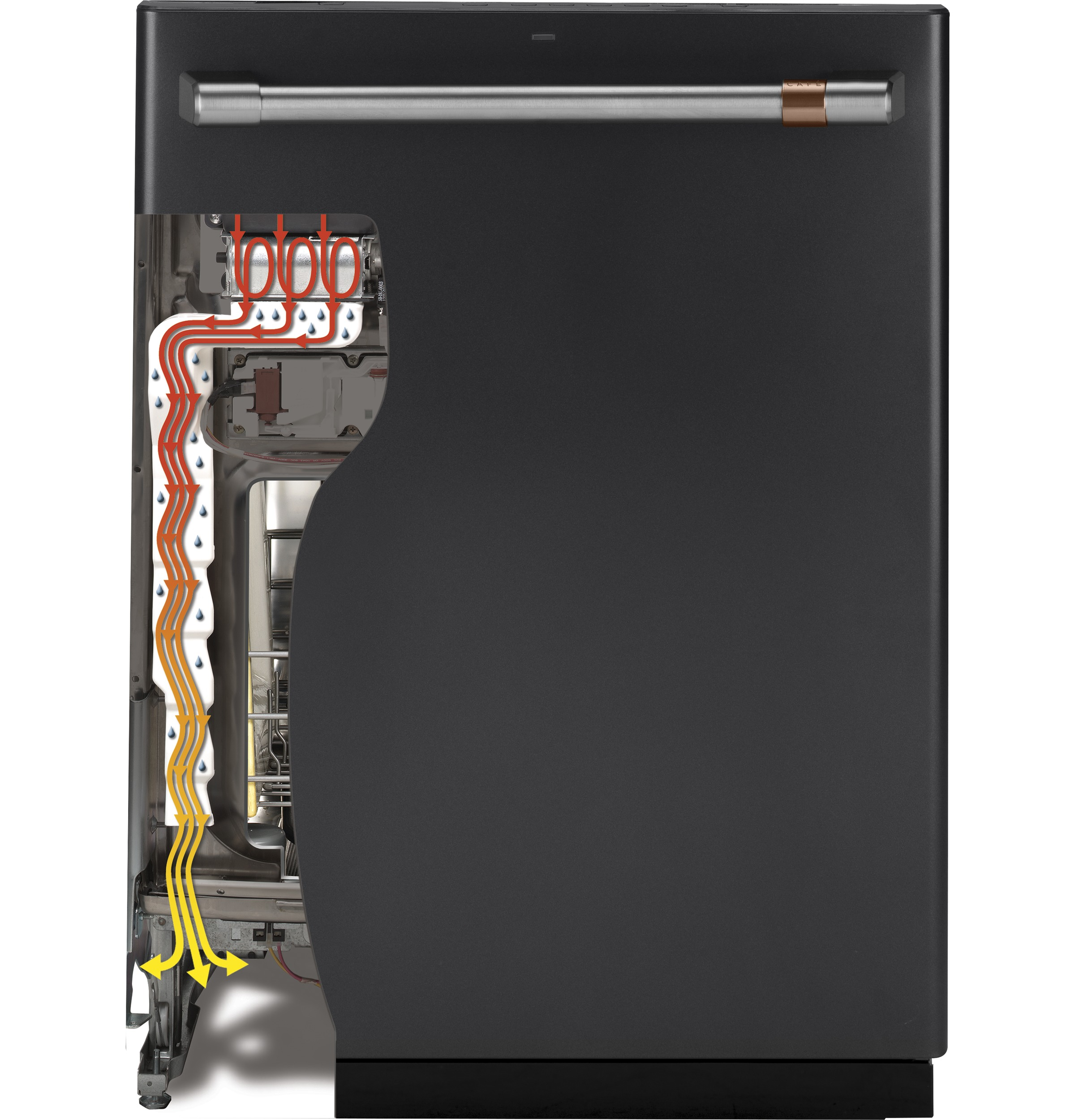 Model: CDT866P4MW2 | Cafe Café™ Stainless Interior Built-In Dishwasher with Hidden Controls