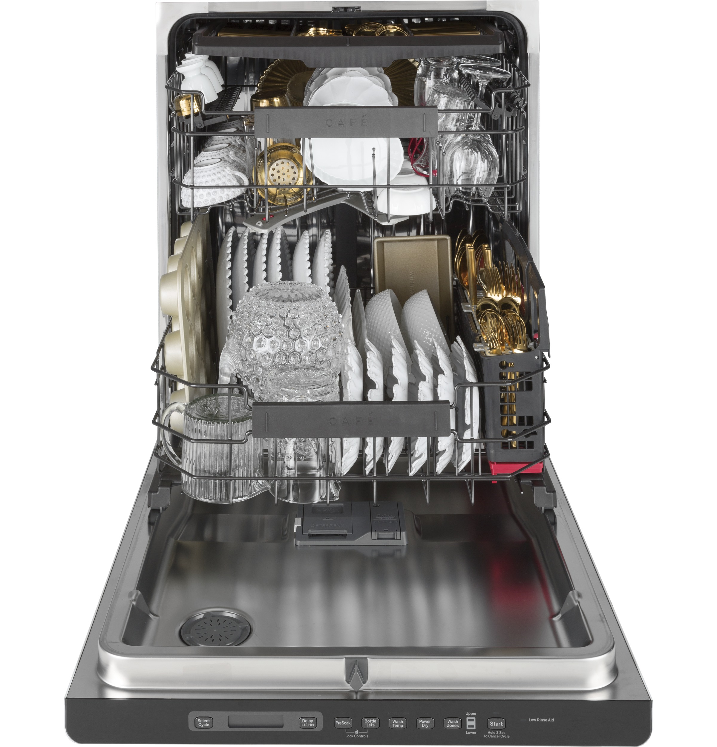 Model: CDT866P4MW2 | Café™ Stainless Interior Built-In Dishwasher with Hidden Controls
