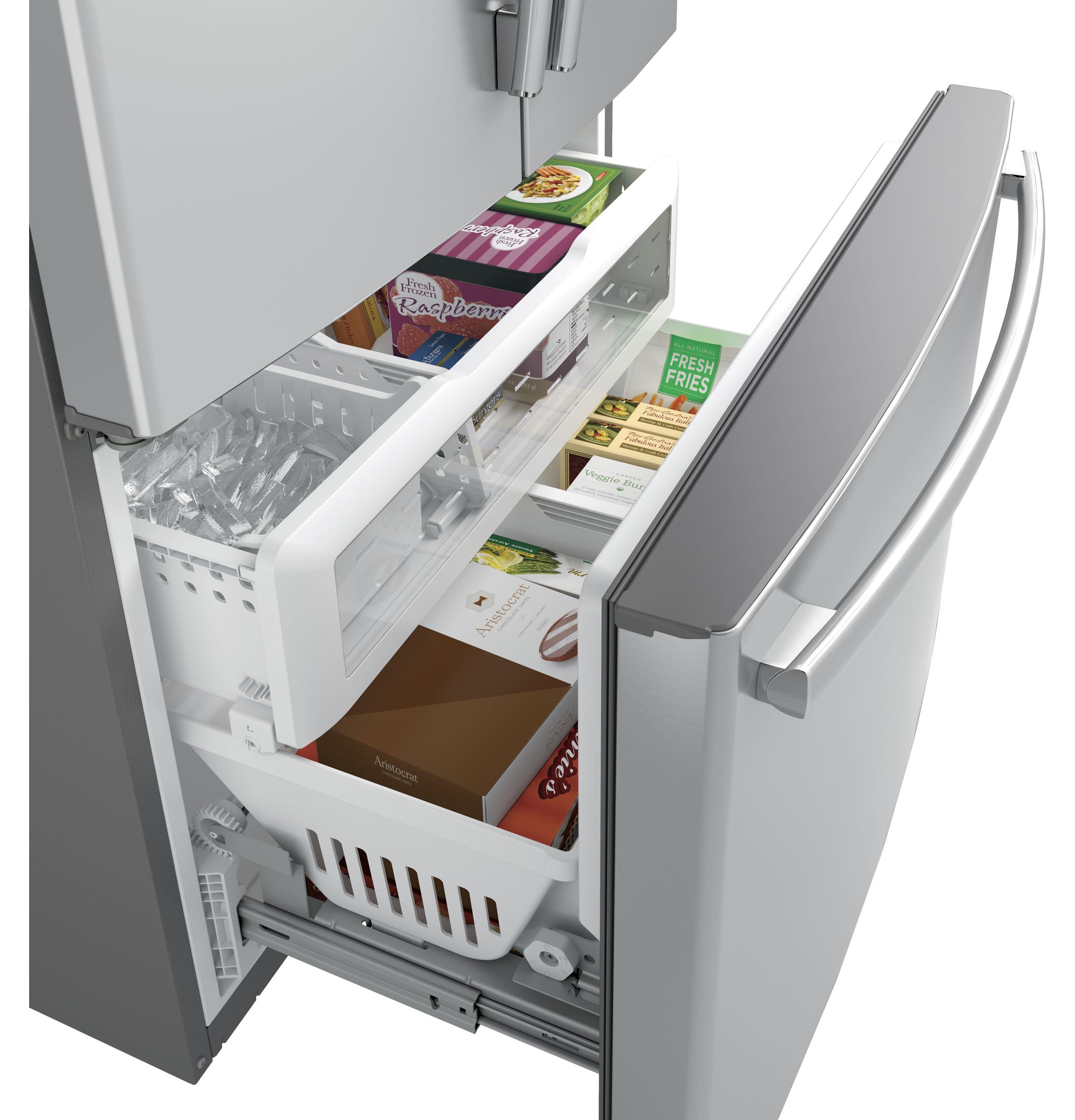 Model: PWE23KSKSS | GE Profile™ Series ENERGY STAR® 23.1 Cu. Ft. Counter-Depth French-Door Refrigerator