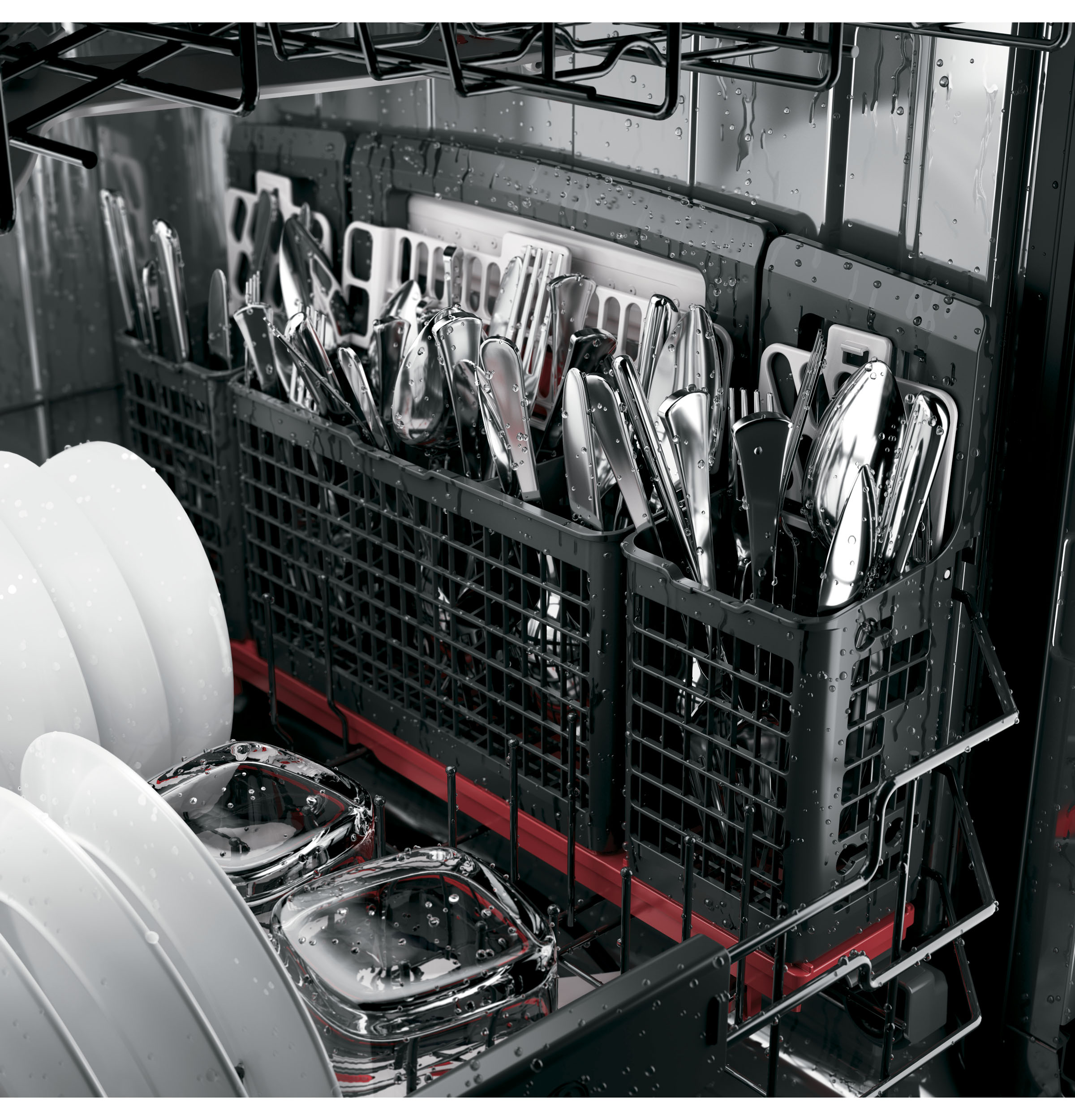 Model: PDT825SSJSS   GE Profile™ Stainless Steel Interior Dishwasher with Hidden Controls