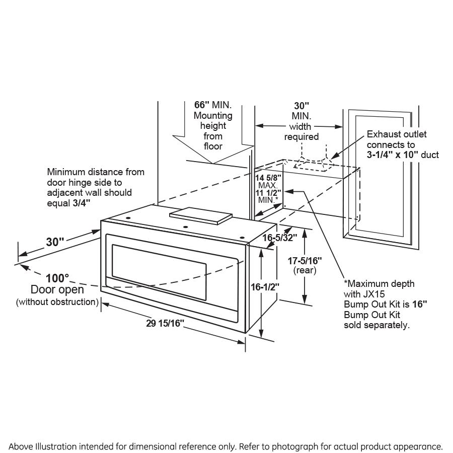 Model: PVM9005EJES   GE Profile™ Series 2.1 Cu. Ft. Over-the-Range Sensor Microwave Oven