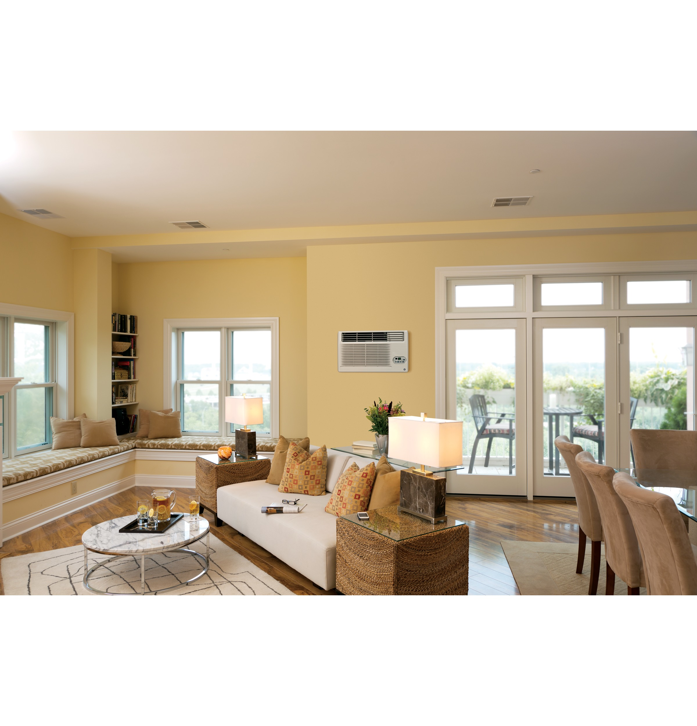 Model: AJEM12DCF | GE GE® 230/208 Volt Built-In Heat/Cool Room Air Conditioner