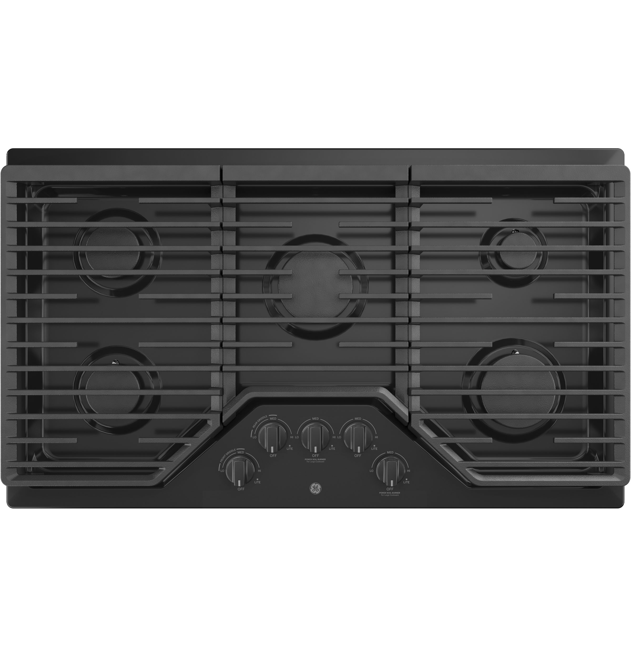 "GE GE® 36"" Built-In Gas Cooktop with 5 Burners and Dishwasher Safe Grates"