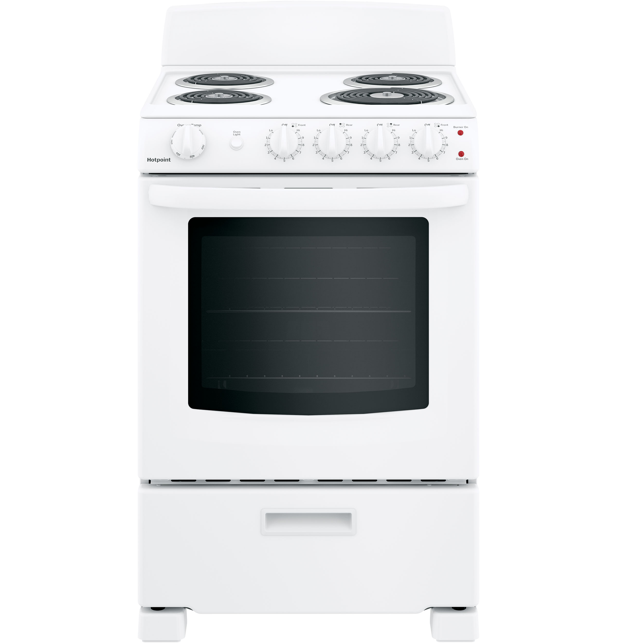 "Hotpoint Hotpoint® 24"" Free-Standing Front-Control Electric Range"