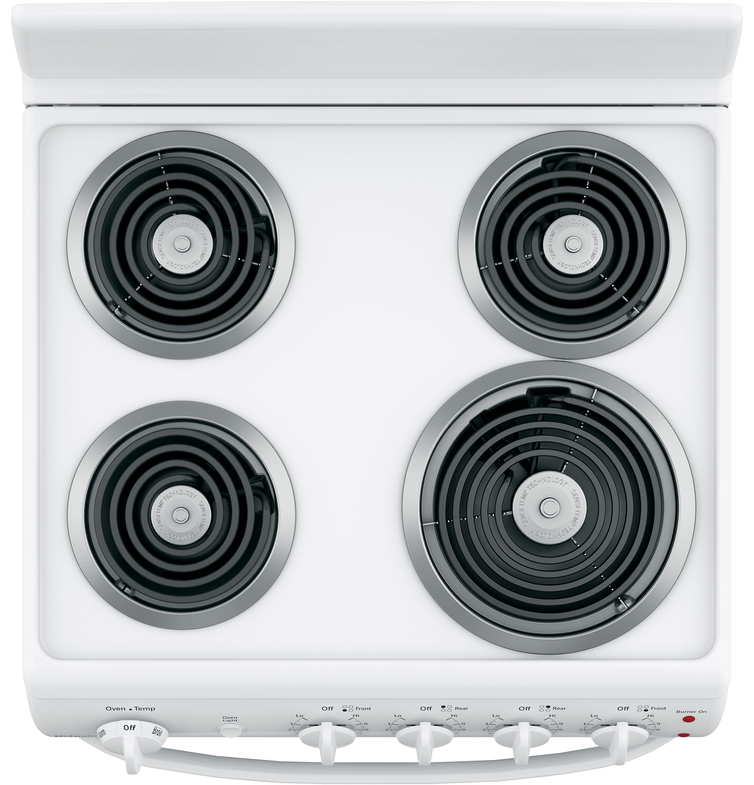"Model: RAS300DMWW | Hotpoint Hotpoint® 24"" Free-Standing Front-Control Electric Range"