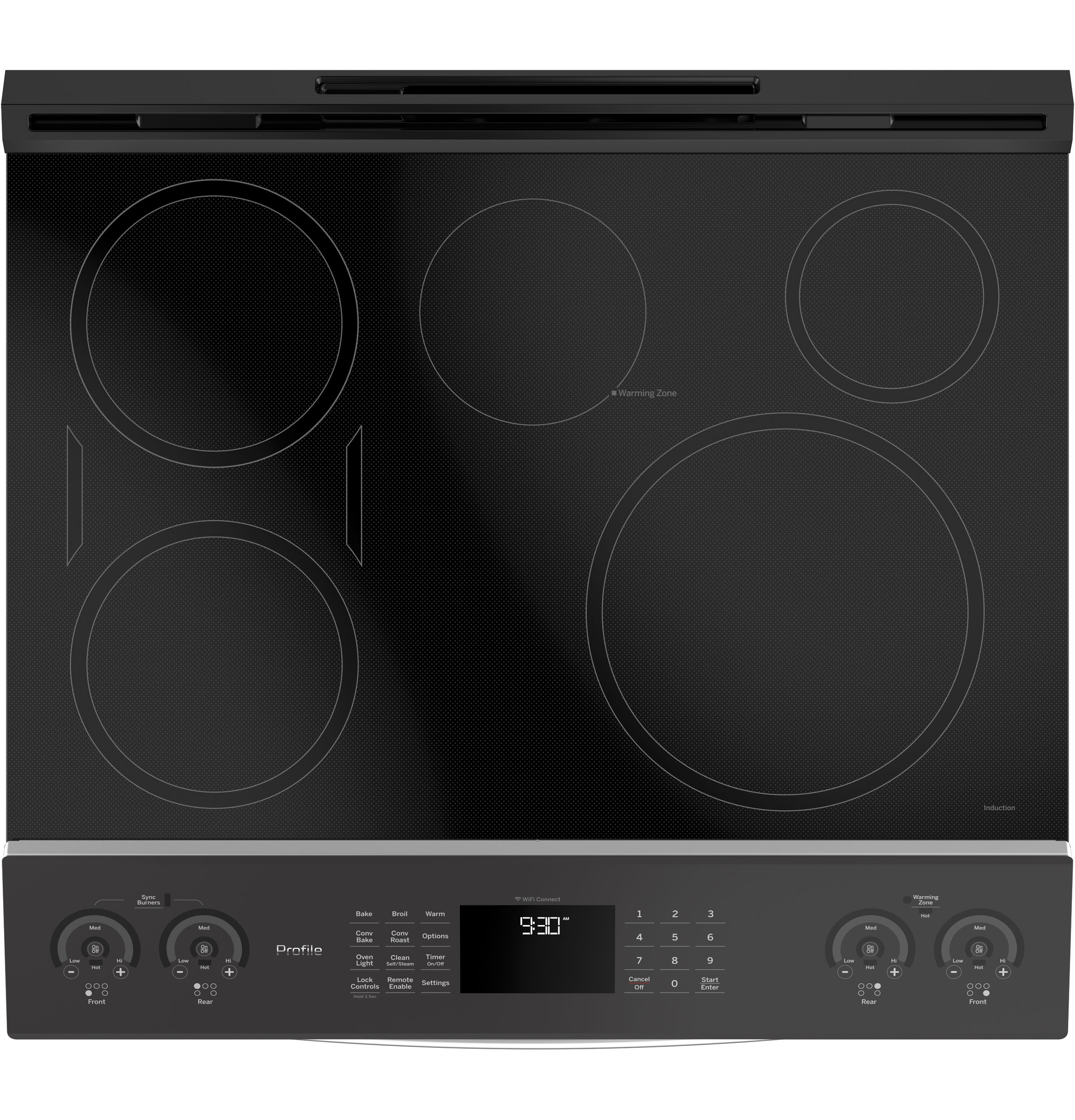 "Profile GE Profile™ 30"" Smart Slide-In Front-Control Induction and Convection Range"