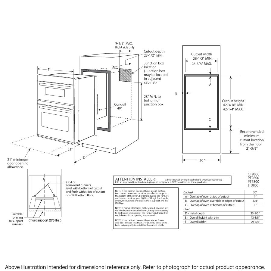 Model: PT7800SHSS   GE Profile™ Series 30