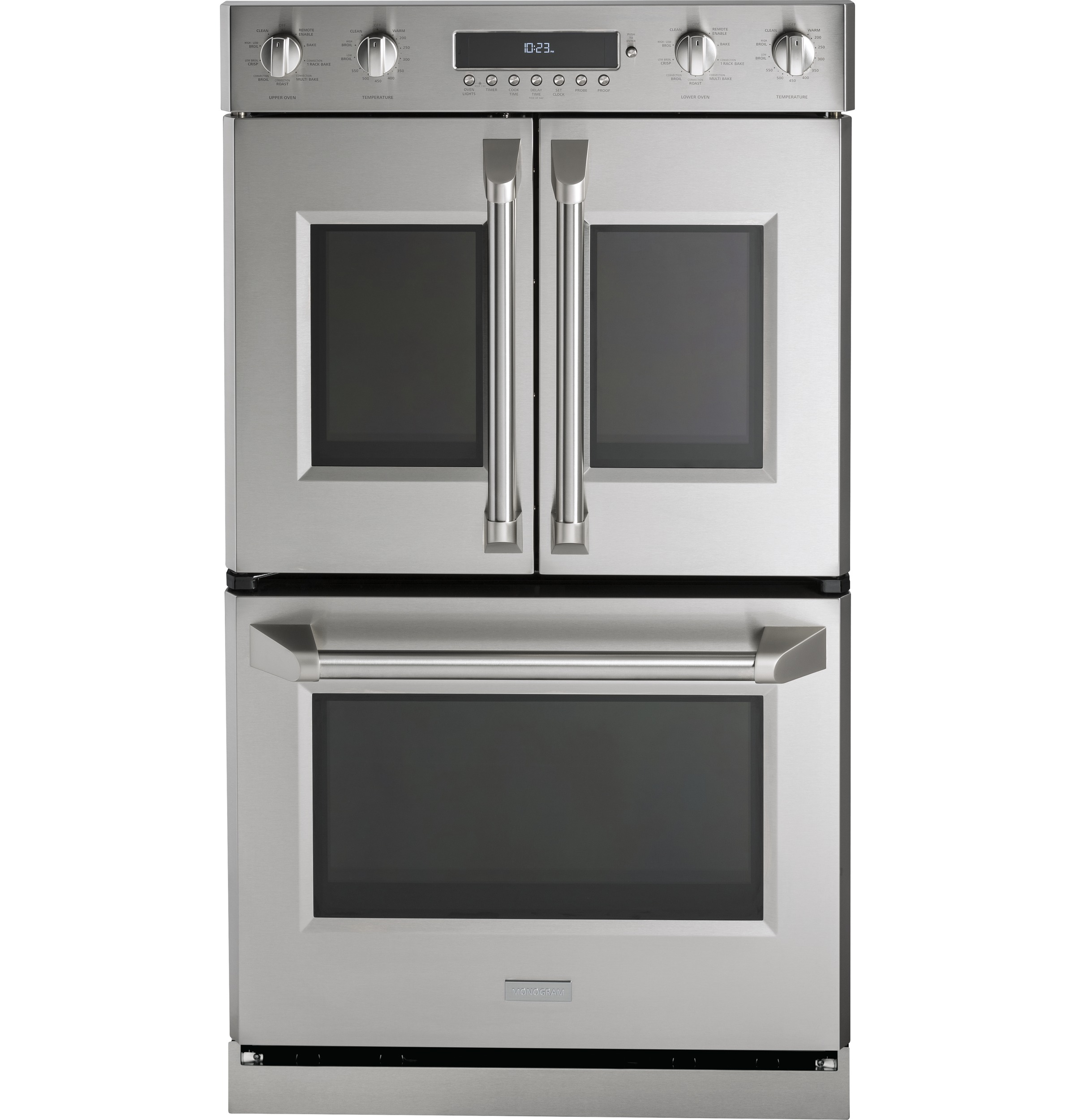 "Monogram Monogram 30"" Professional French-Door Electronic Convection Double Wall Oven"