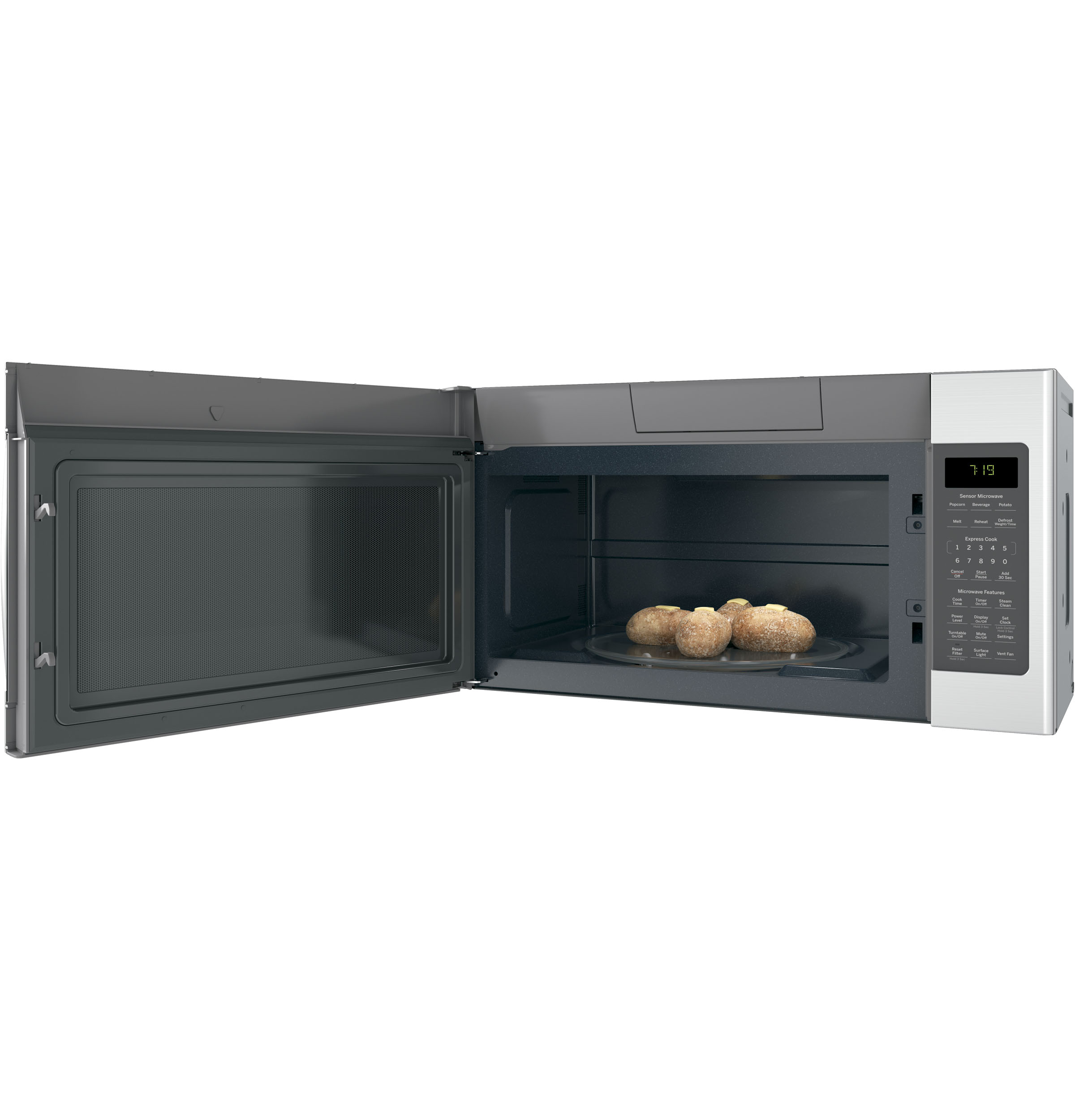 Model: JVM7195SKSS | GE GE® 1.9 Cu. Ft. Over-the-Range Sensor Microwave Oven