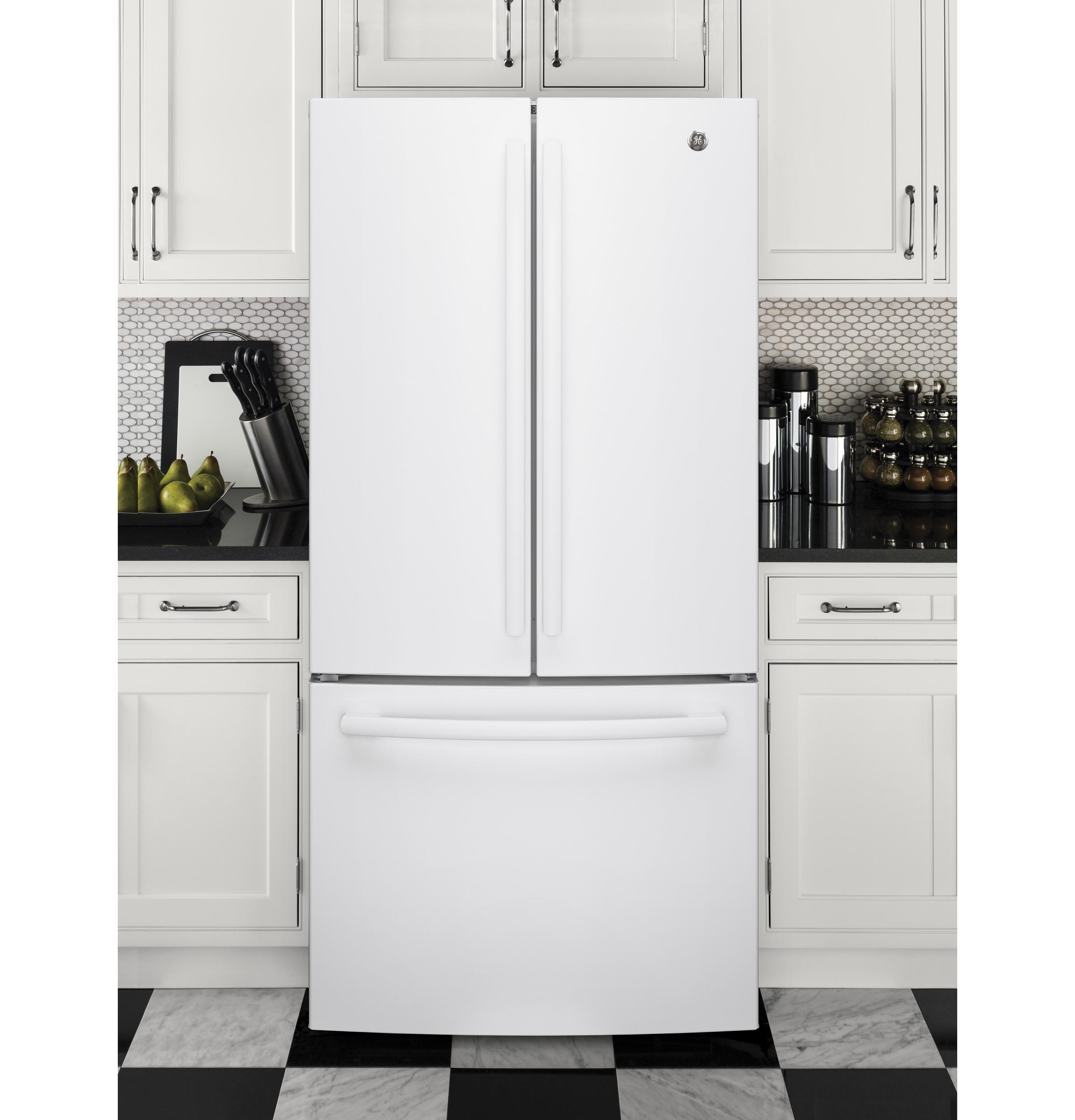 Model: GNE25JGKWW   GE GE® ENERGY STAR® 24.7 Cu. Ft. French-Door Refrigerator