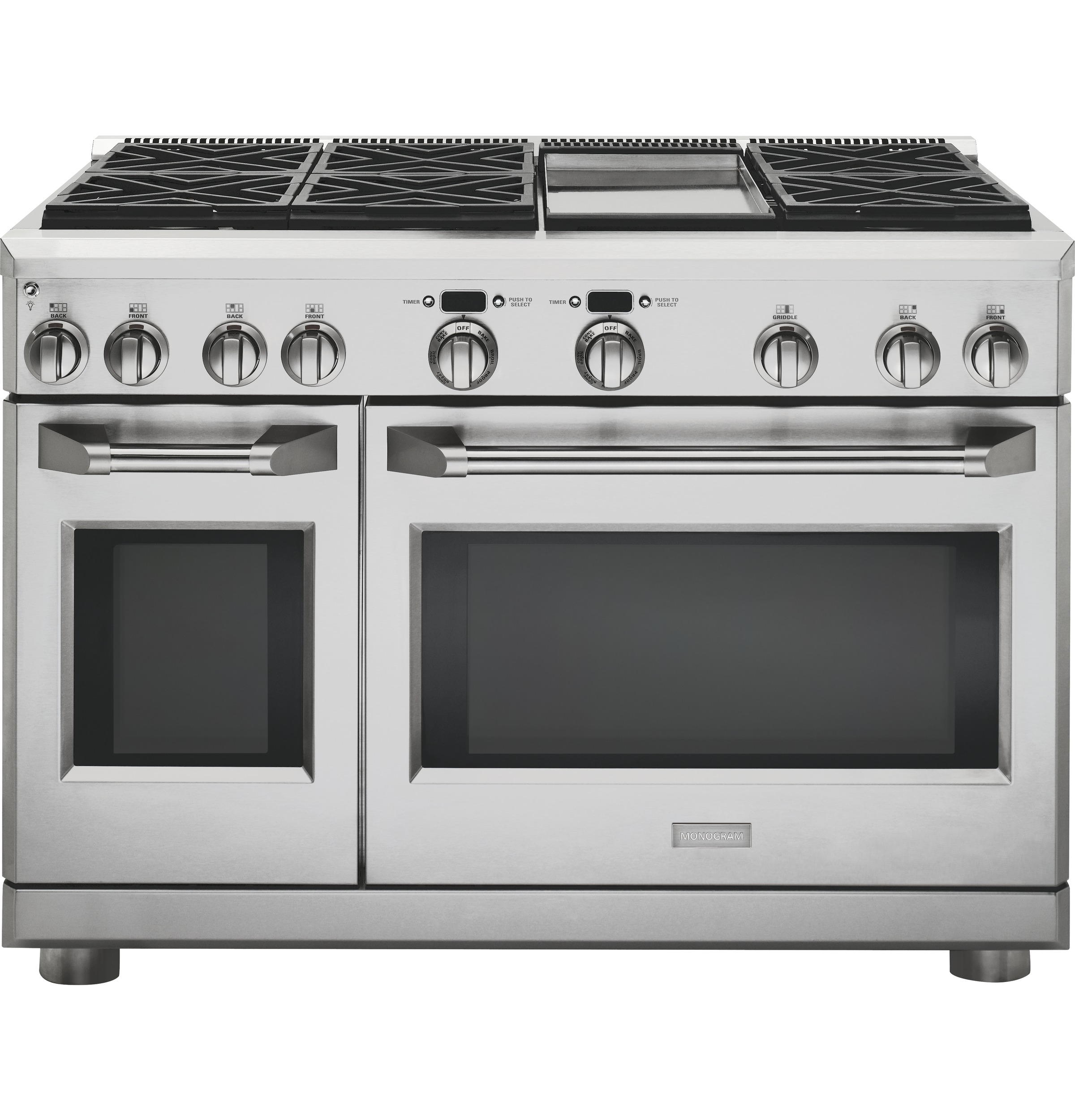 "Monogram Monogram 48"" All Gas Professional Range with 6 Burners and Griddle (Liquid Propane)"