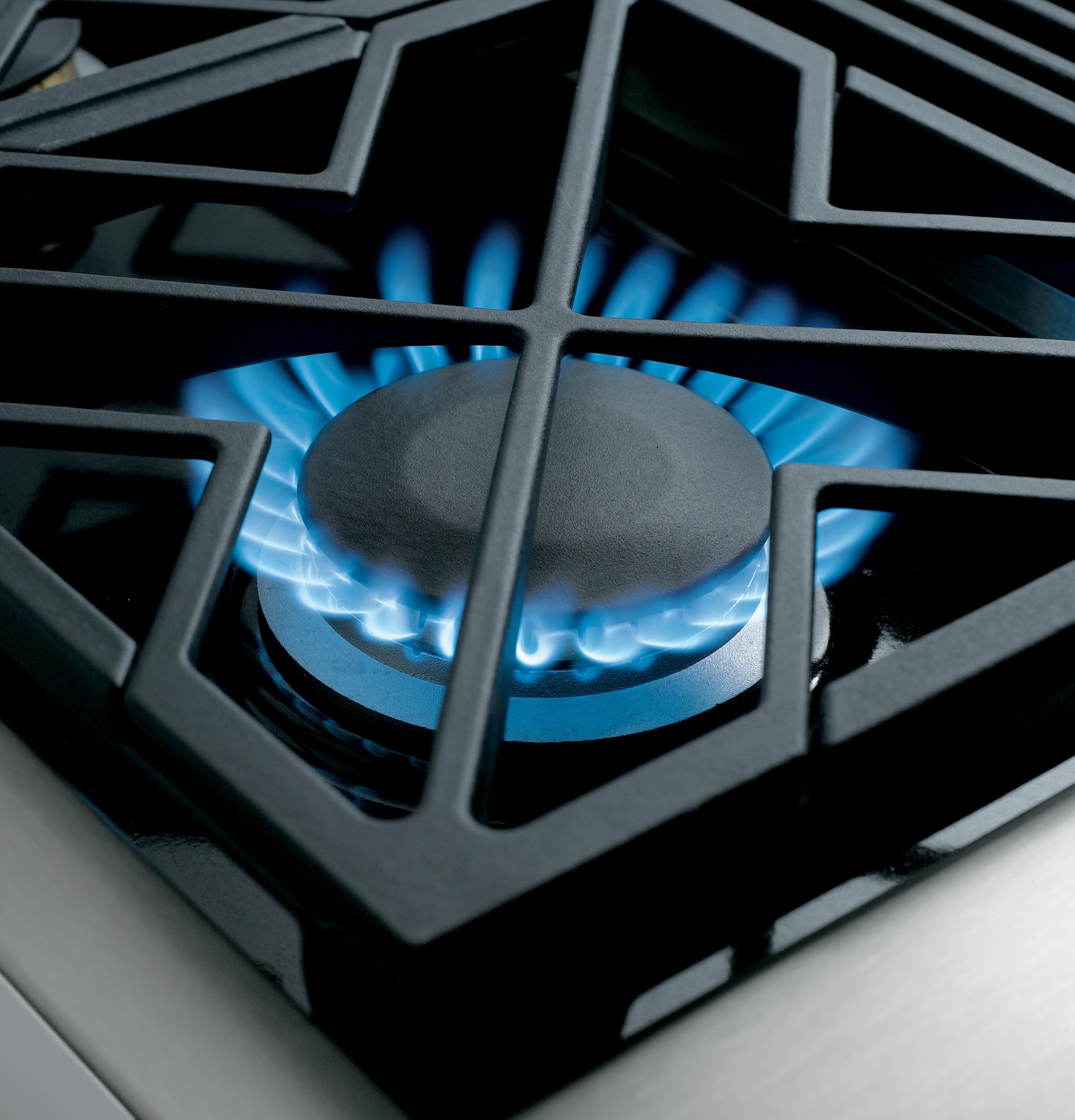 "Model: ZGP486LDRSS | Monogram Monogram 48"" All Gas Professional Range with 6 Burners and Griddle (Liquid Propane)"
