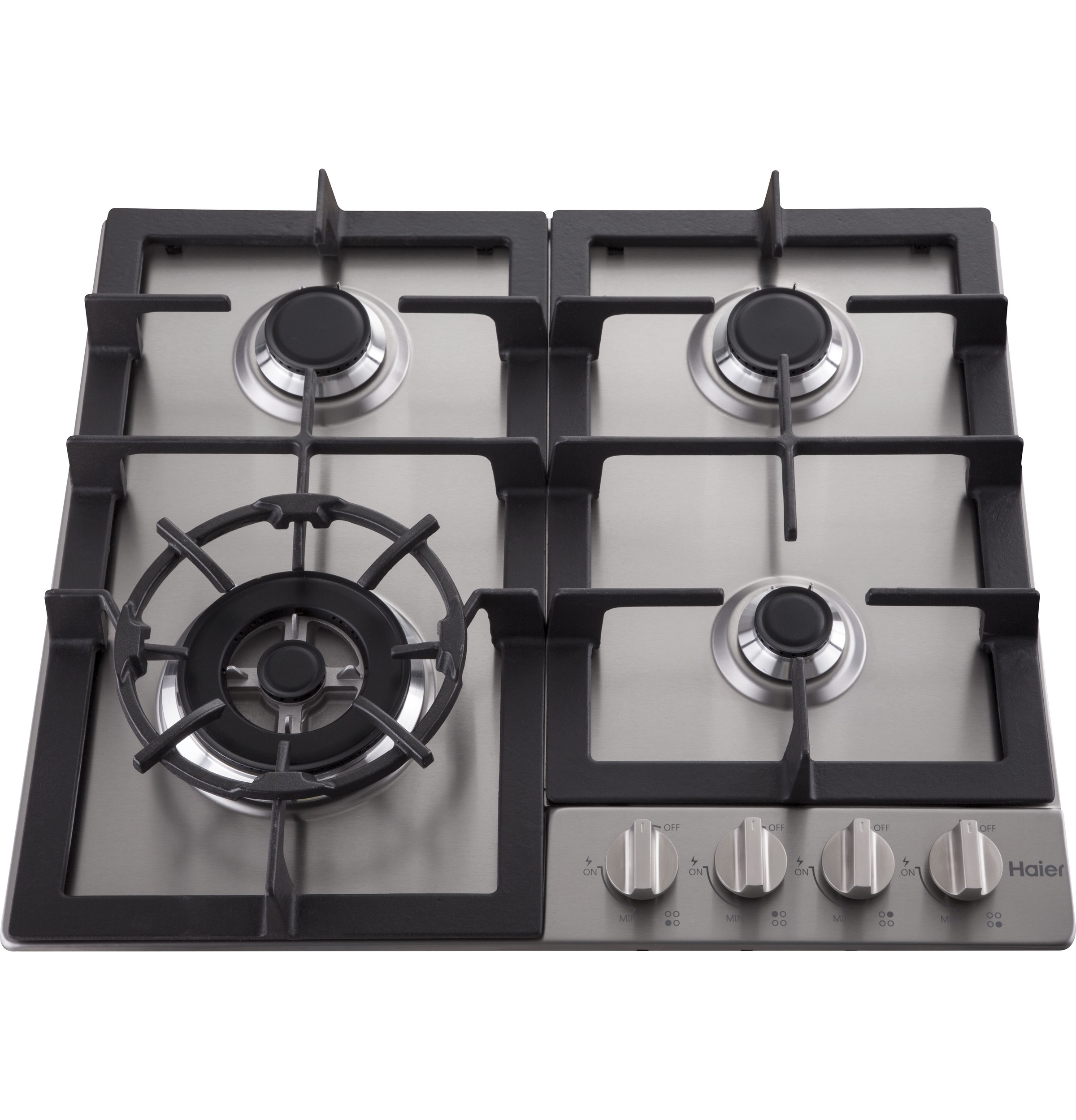"Model: HCC2230AGS | Haier 24"" Gas Cooktop"