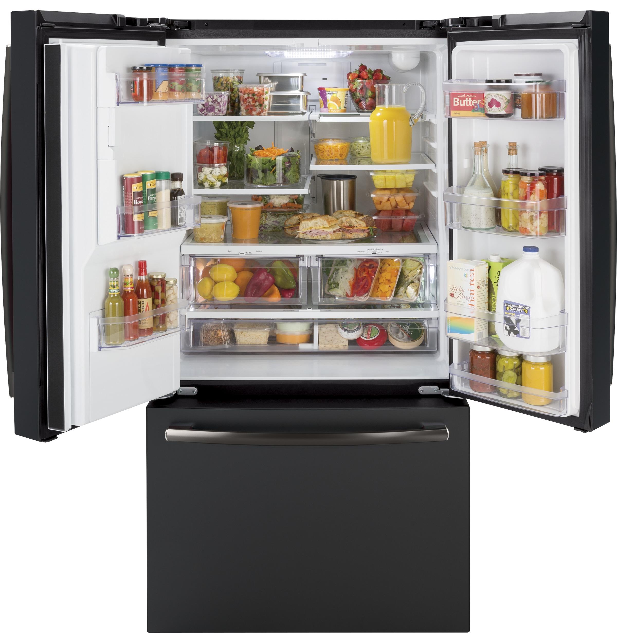 Model: GFE26JEMDS | GE GE® ENERGY STAR® 25.6 Cu. Ft. French-Door Refrigerator