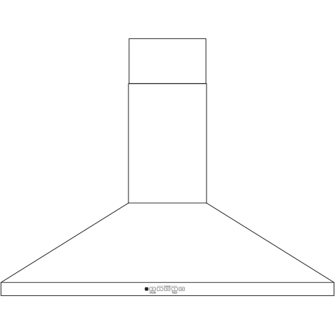 "Model: JVW5361FJDS   GE GE® 36"" Wall-Mount Pyramid Chimney Hood"