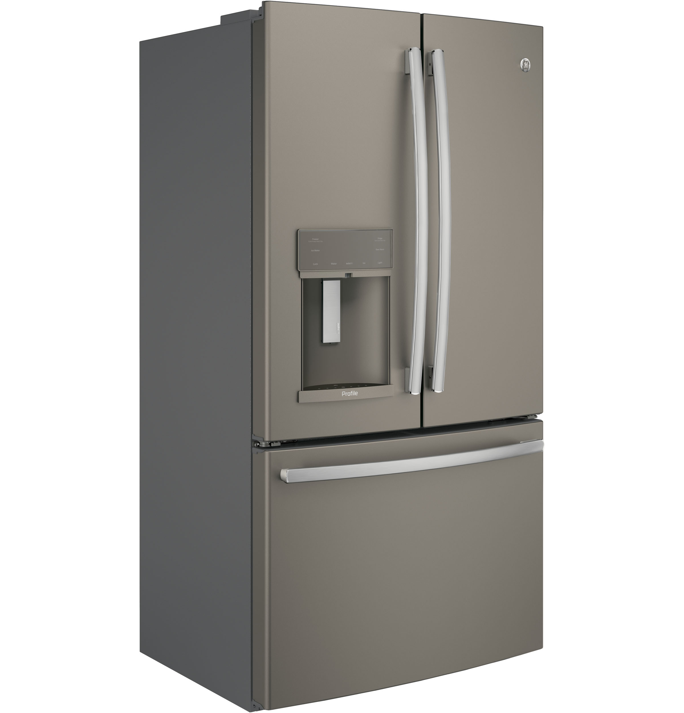 Model: PYE22KMKES | GE Profile™ Series ENERGY STAR® 22.2 Cu. Ft. Counter-Depth French-Door Refrigerator with Hands-Free AutoFill