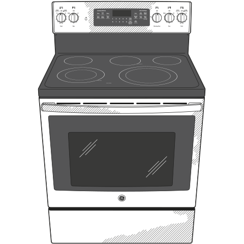 "Model: JB750SJSS | GE GE® 30"" Free-Standing Electric Convection Range"