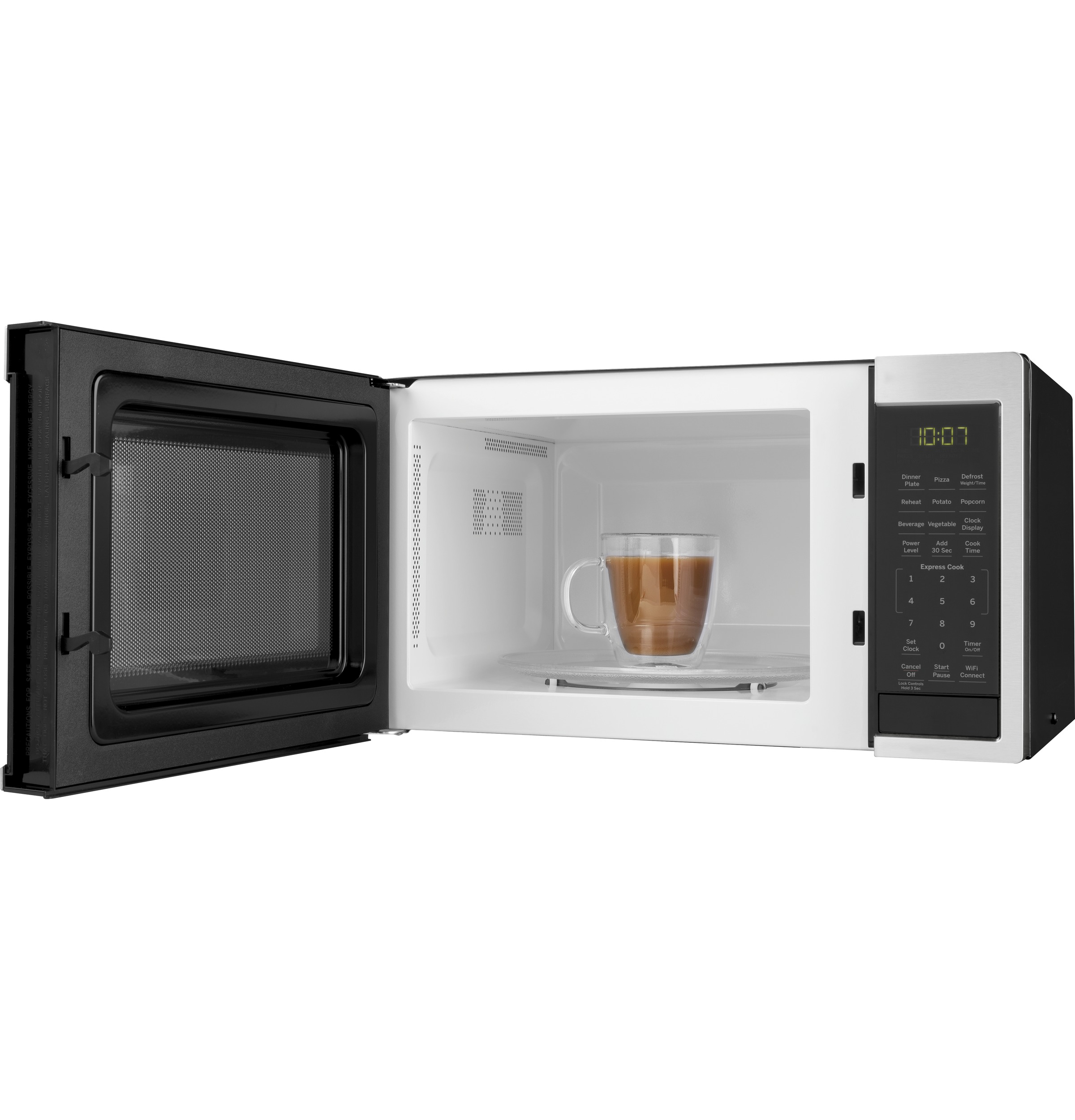 Model: JES1097SMSS | GE GE® 0.9 Cu. Ft. Capacity Smart Countertop Microwave Oven with Scan-To-Cook Technology