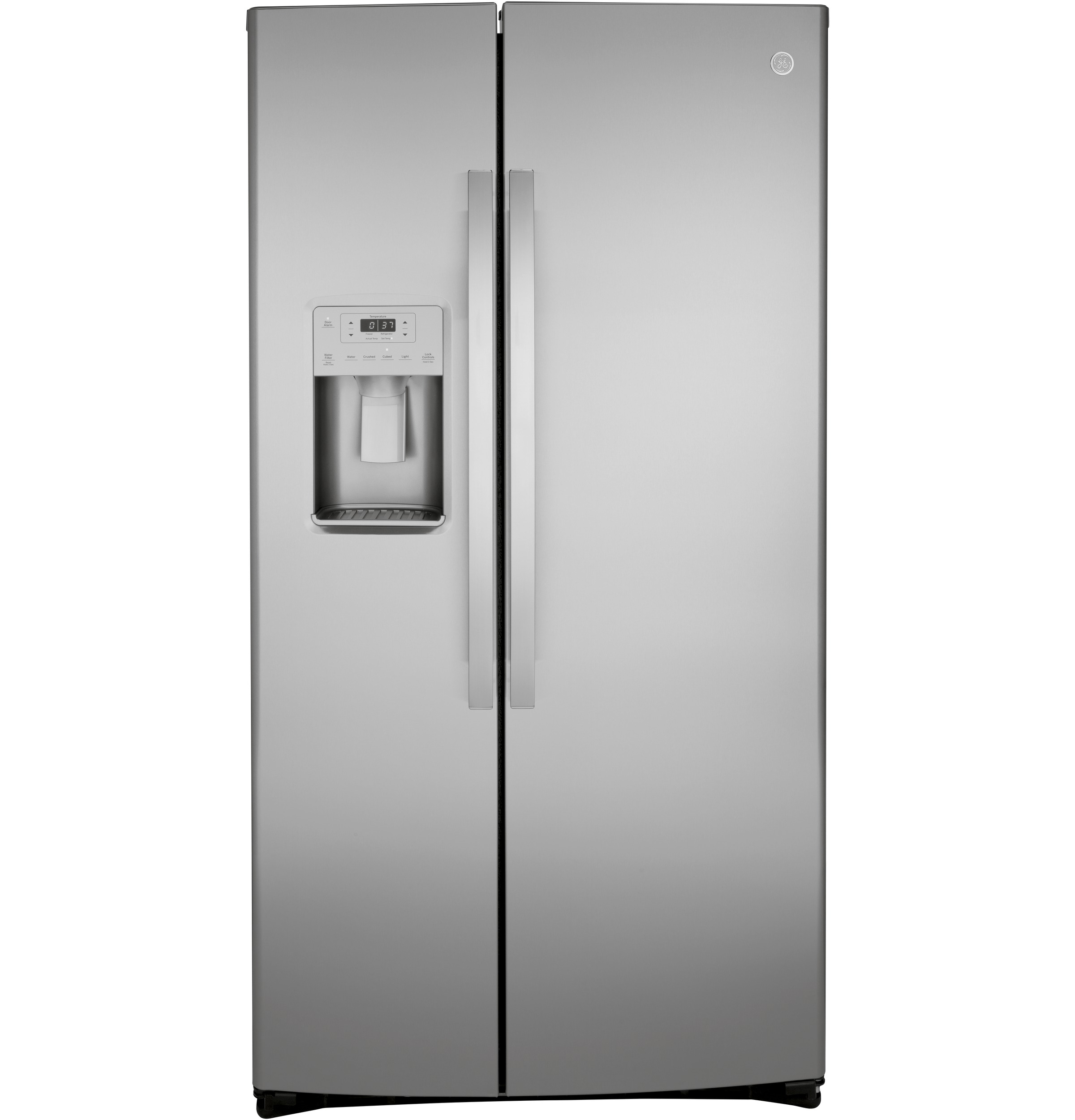 GE GE® 21.8 Cu. Ft. Counter-Depth Fingerprint Resistant Side-By-Side Refrigerator