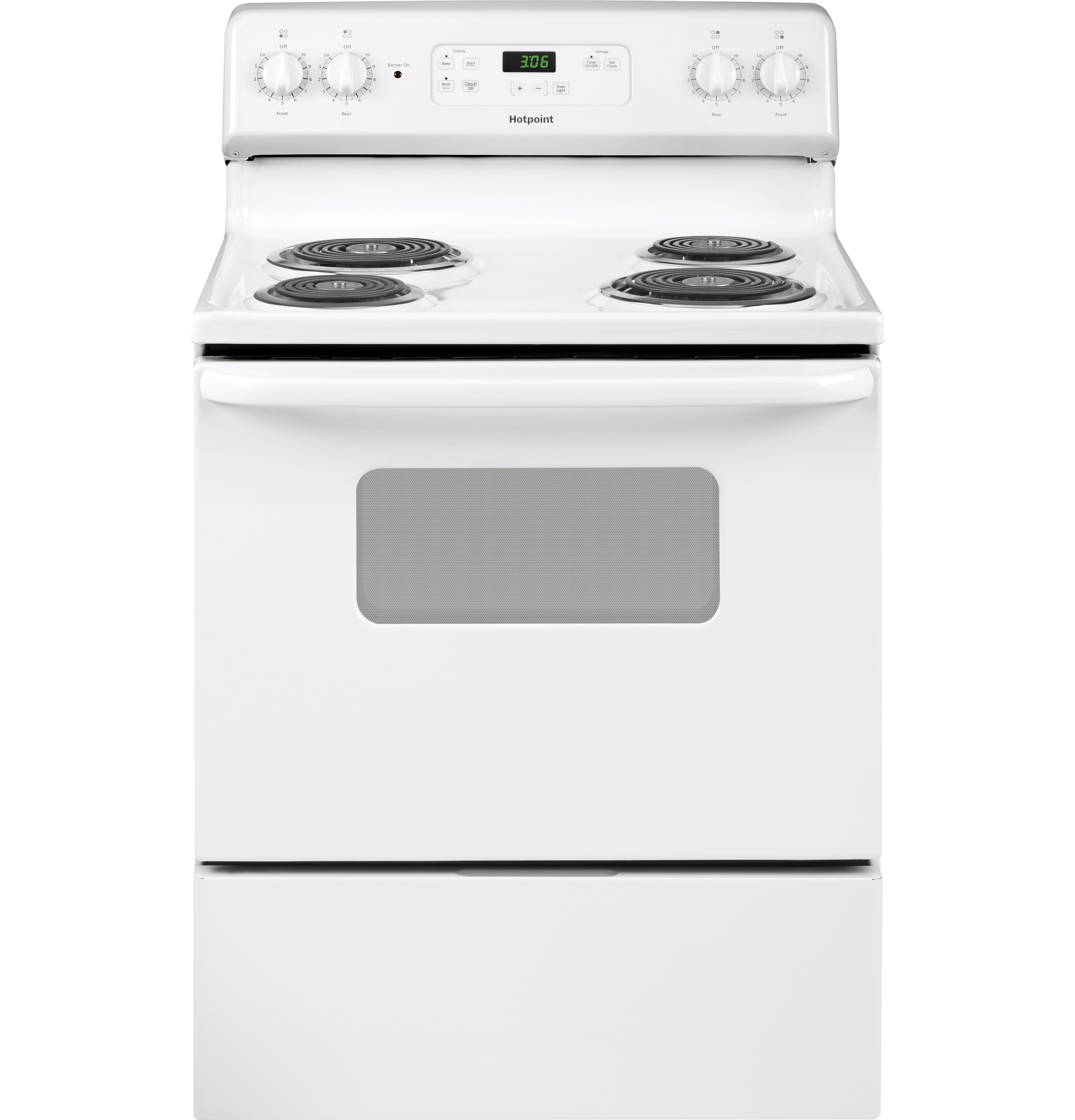 "Hotpoint Hotpoint® 30"" Free-Standing Standard Clean Electric Range"