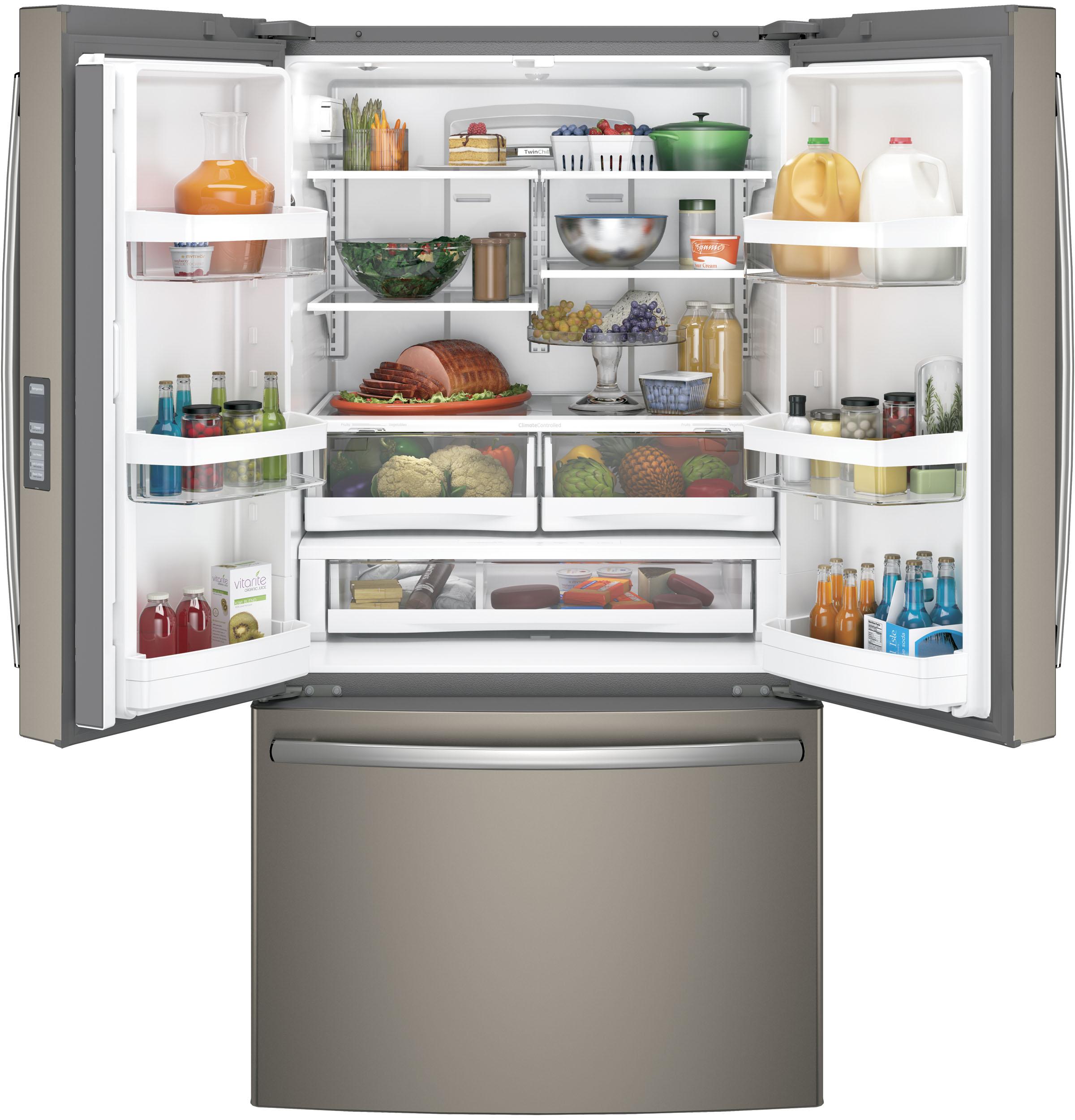 Model: GNE29GMKES | GE® ENERGY STAR® 28.7 Cu. Ft. French-Door Refrigerator