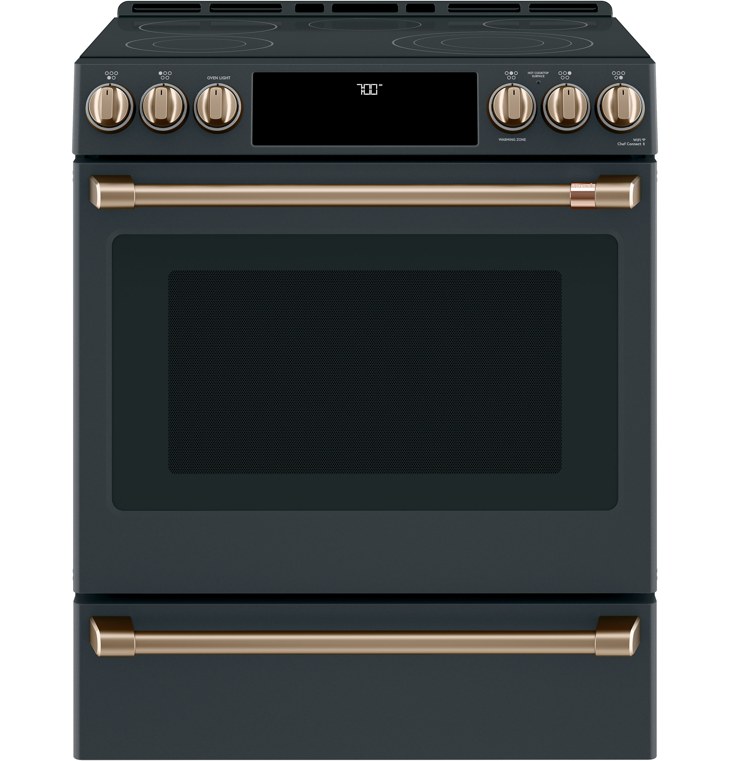 "Model: CES700P3MD1 | Cafe Café™ 30"" Smart Slide-In, Front-Control, Radiant and Convection Range"