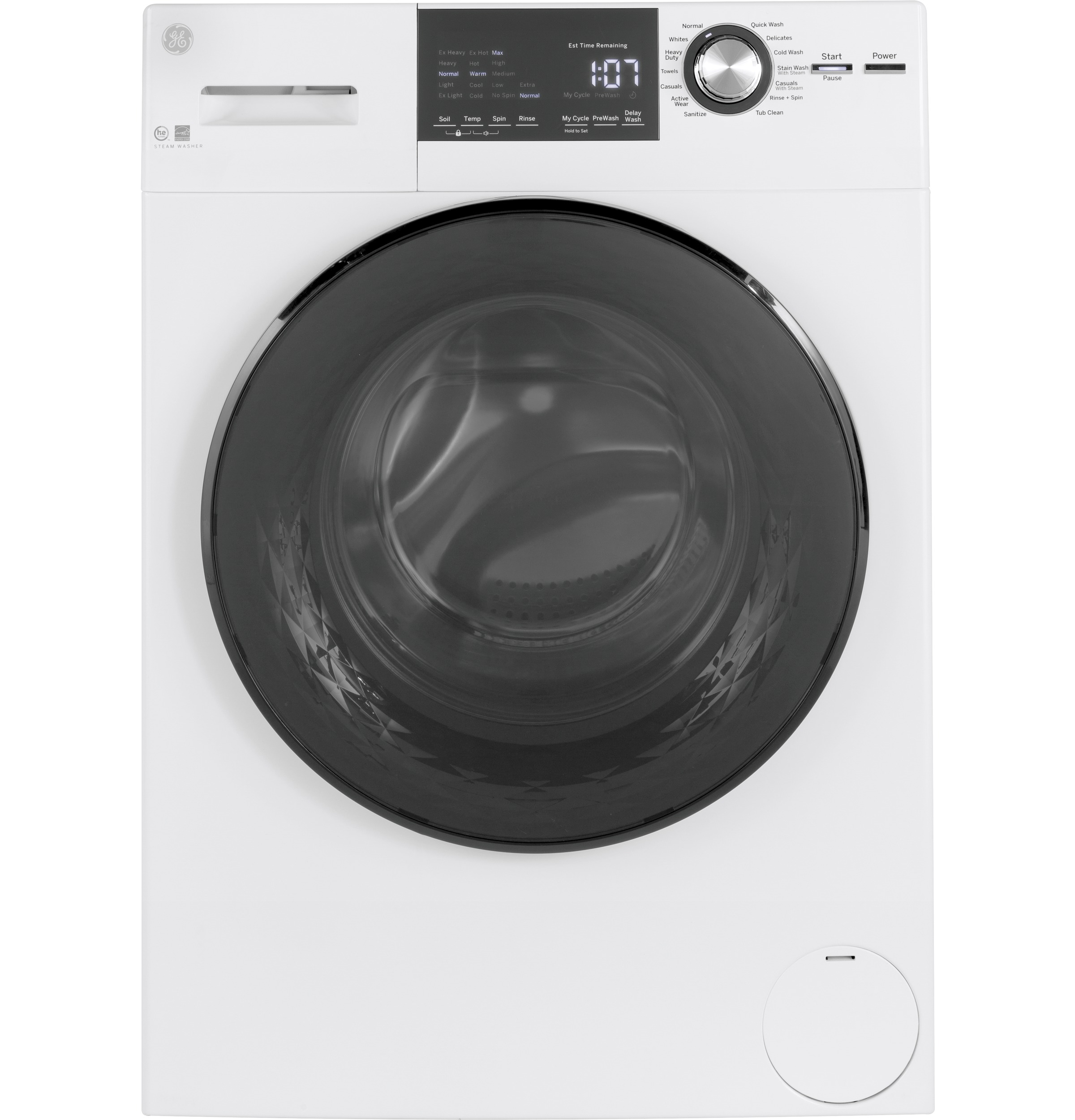 "GE GE® 24"" 2.4 Cu. Ft. ENERGY STAR® Front Load Washer with Steam"
