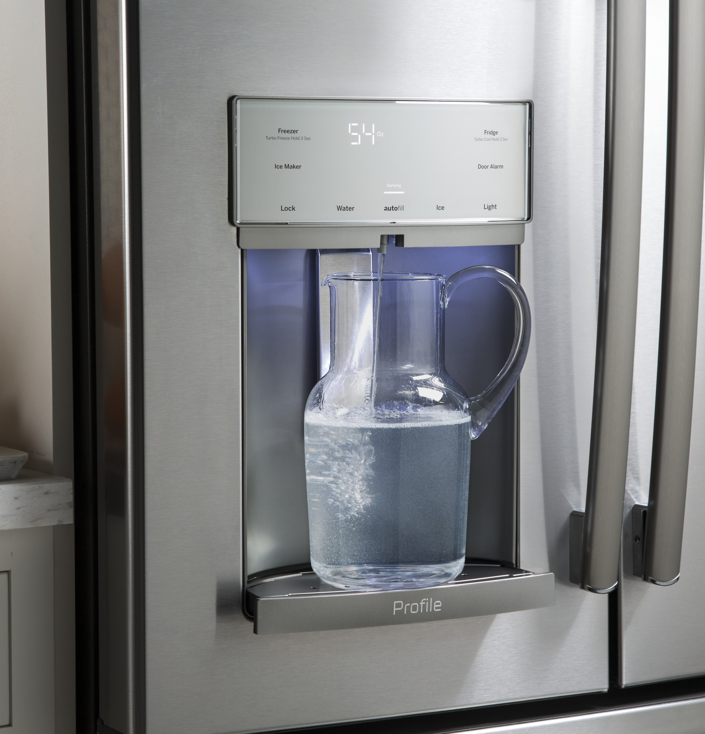 Model: PFE28KELDS | GE Profile™ Series ENERGY STAR® 27.8 Cu. Ft. French-Door Refrigerator with Hands-Free AutoFill