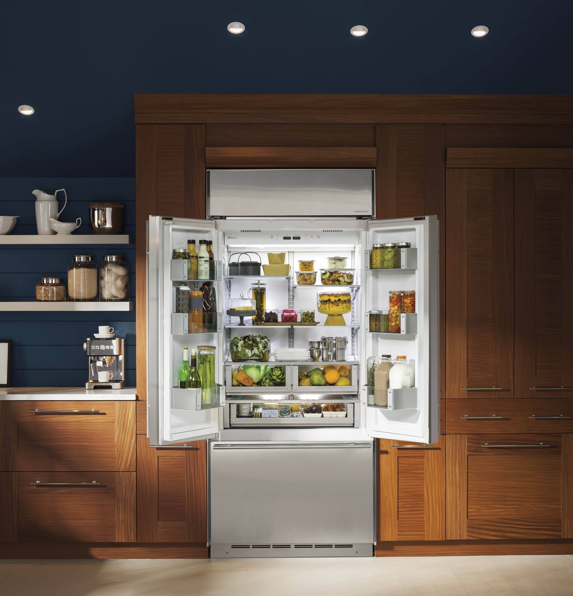 "Model: ZIP360NH | Monogram Monogram 36"" Built-In French-Door Refrigerator"