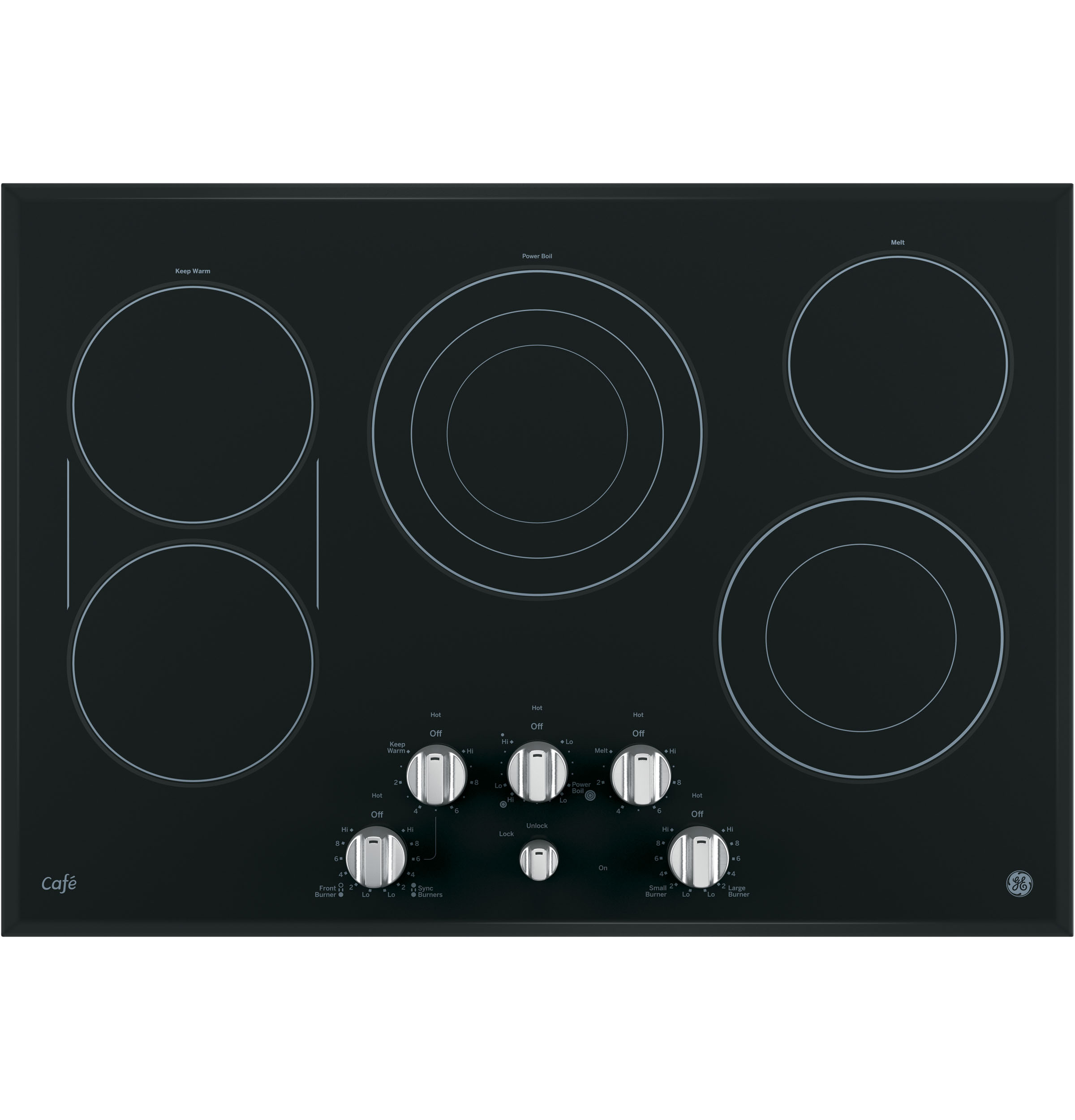 "GE Cafe GE Café™ Series 30"" Built-In Knob Control Electric Cooktop"