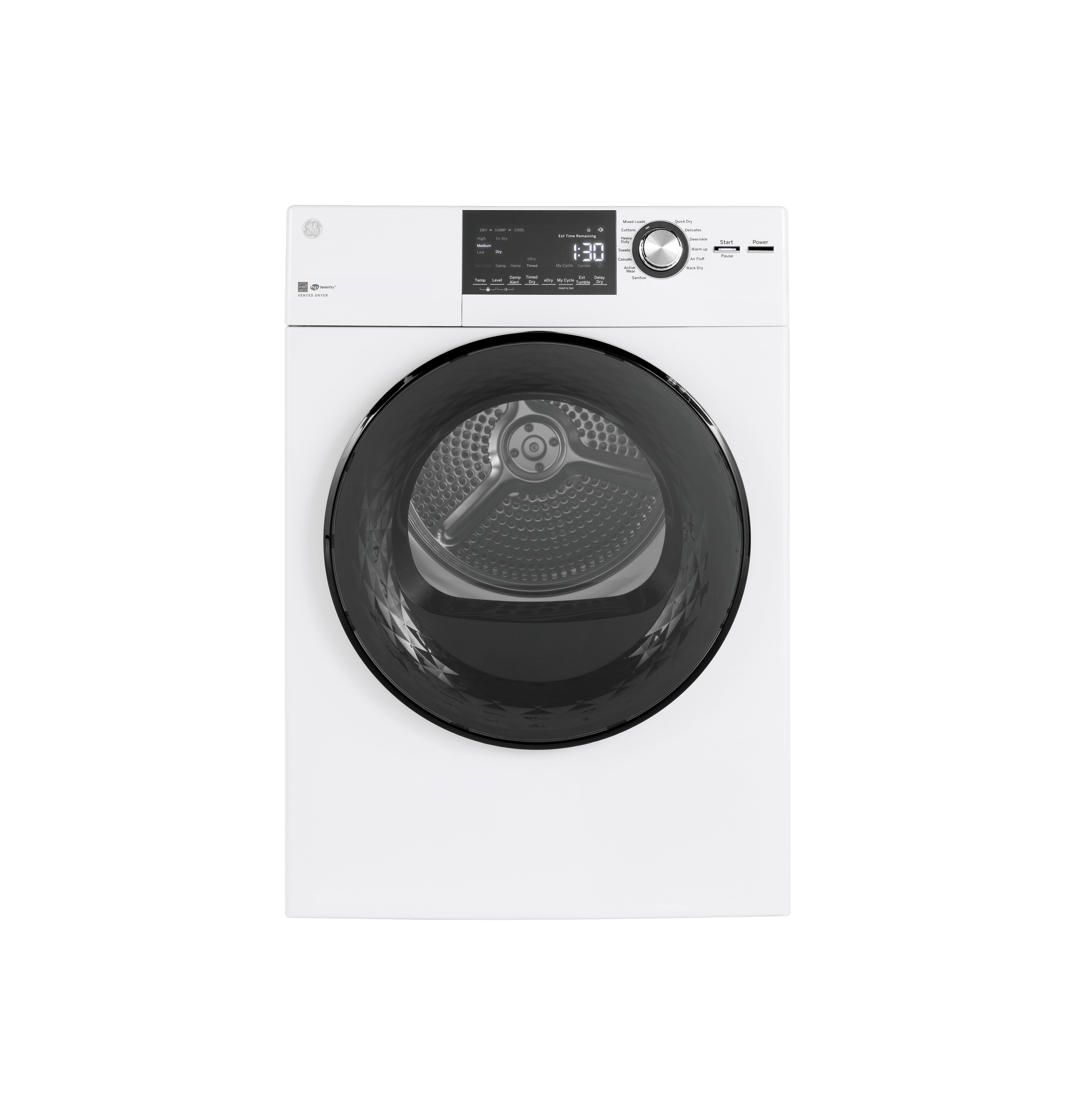 "GE GE®  24"" 4.3 Cu.Ft. Front Load Vented Electric Dryer with Stainless Steel Basket"