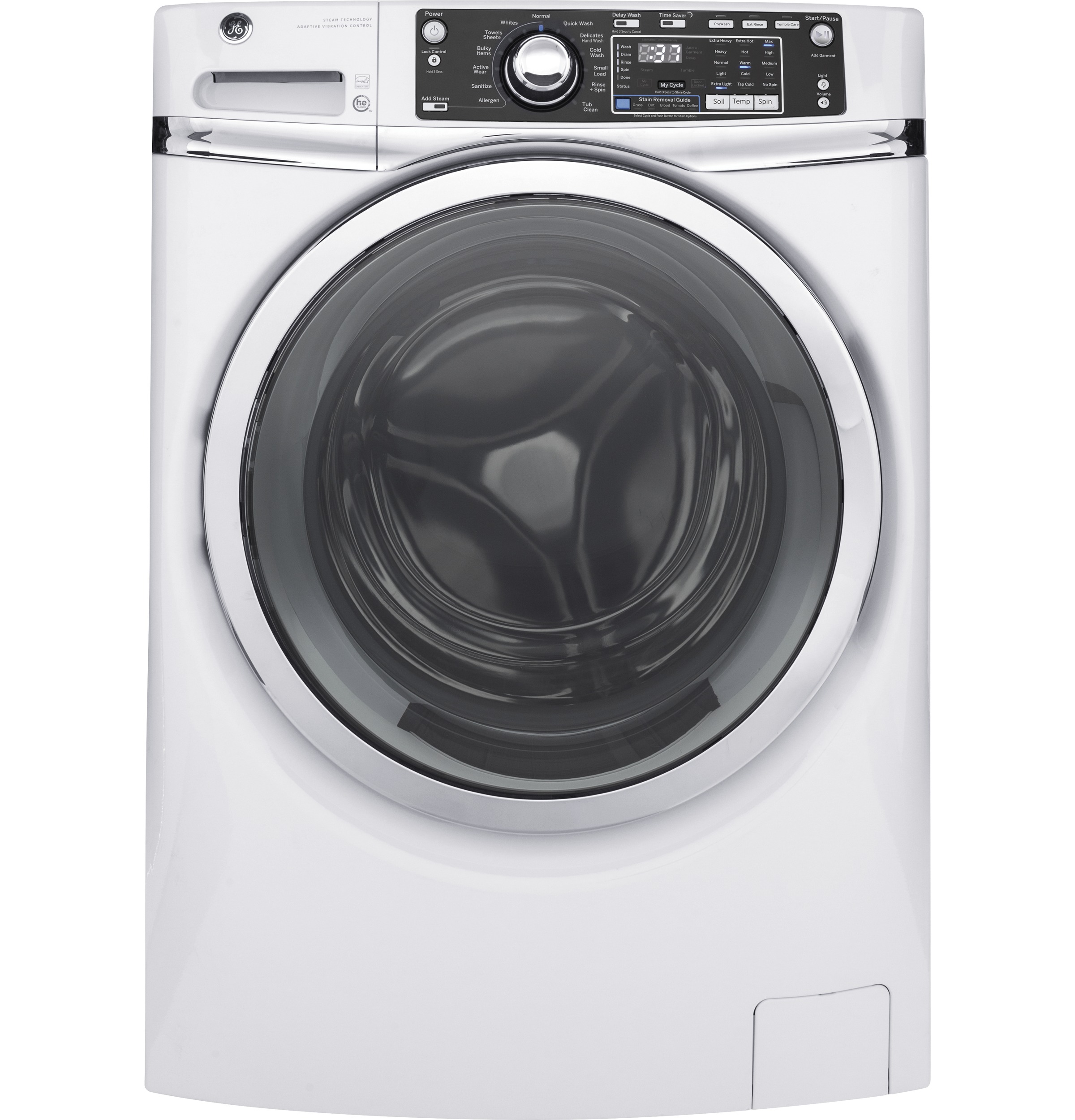 GE GE® 4.9 DOE cu. ft. Capacity Front Load ENERGY STAR® Washer with Steam