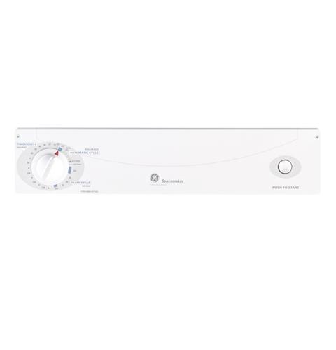Model: DSKS333ECWW   GE GE Spacemaker® 120V 3.6 cu. ft. Capacity Stationary Electric Dryer