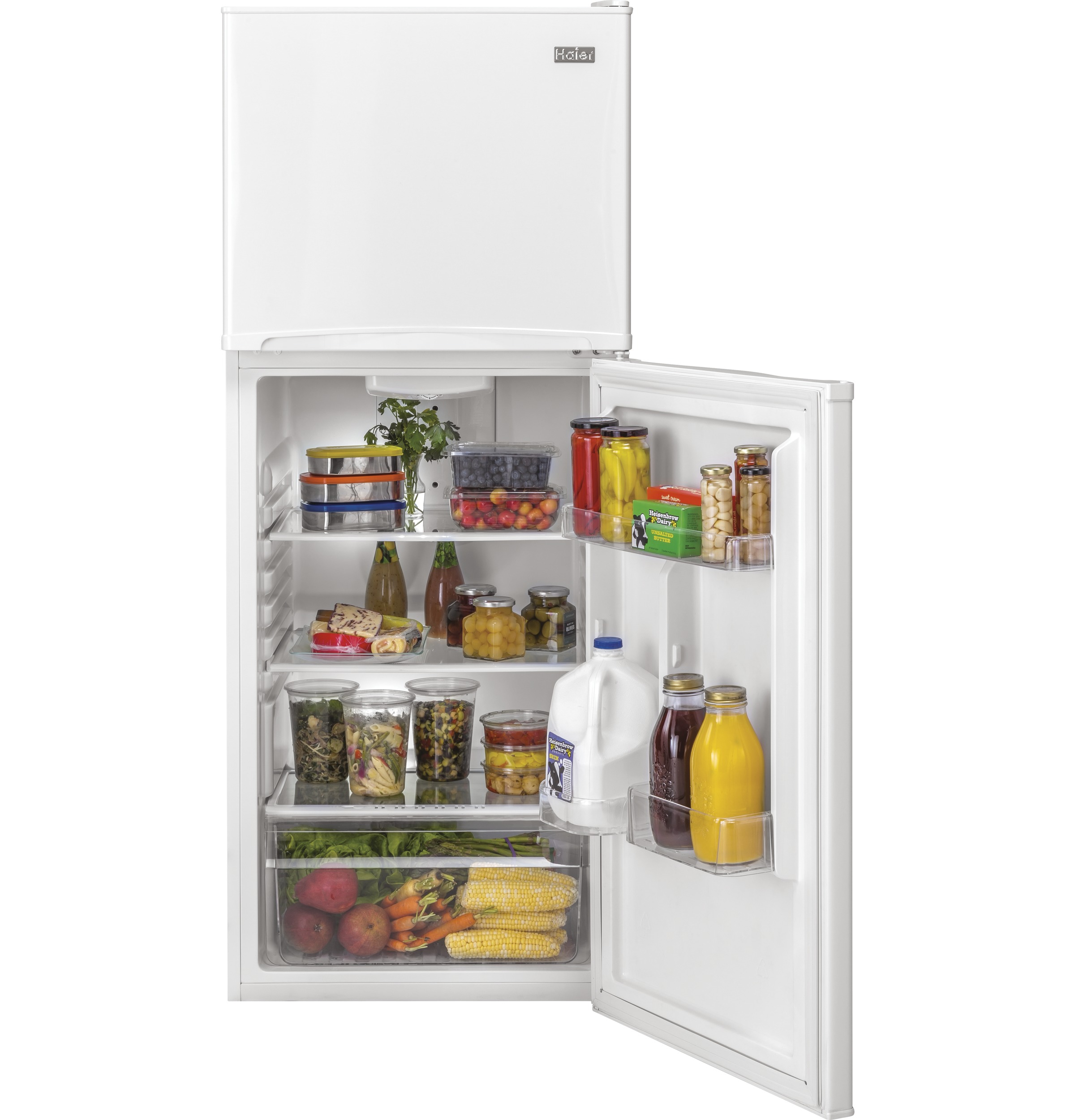 Model: HA10TG21SW | Haier 9.8 Cu. Ft. Top Freezer Refrigerator