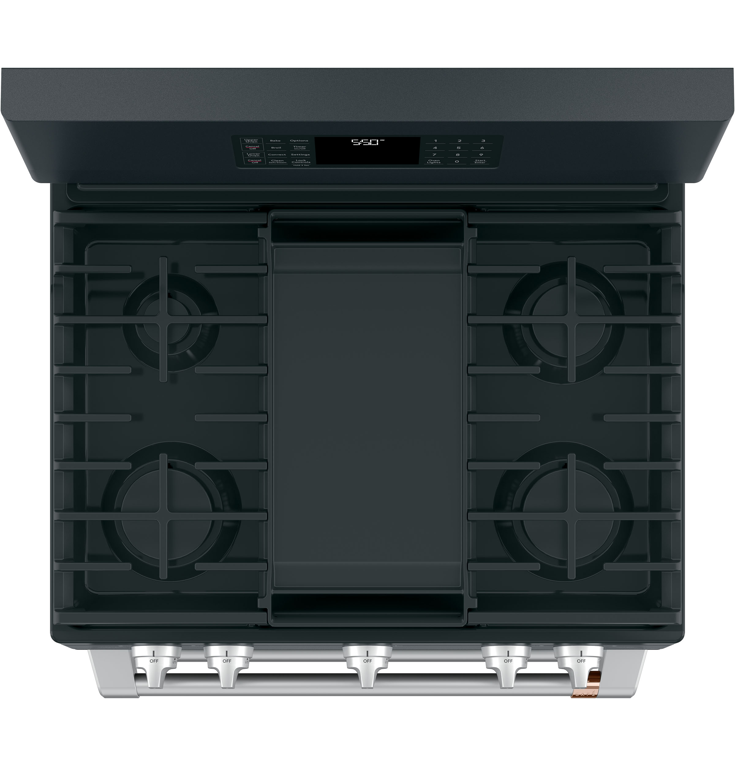 "Model: CGB550P3MD1 | Cafe Café™ 30"" Smart Free-Standing Gas Double-Oven Range with Convection"