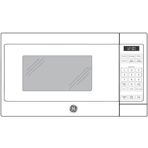 Model: JEM3072DHBB | GE GE® 0.7 Cu. Ft. Capacity Countertop Microwave Oven