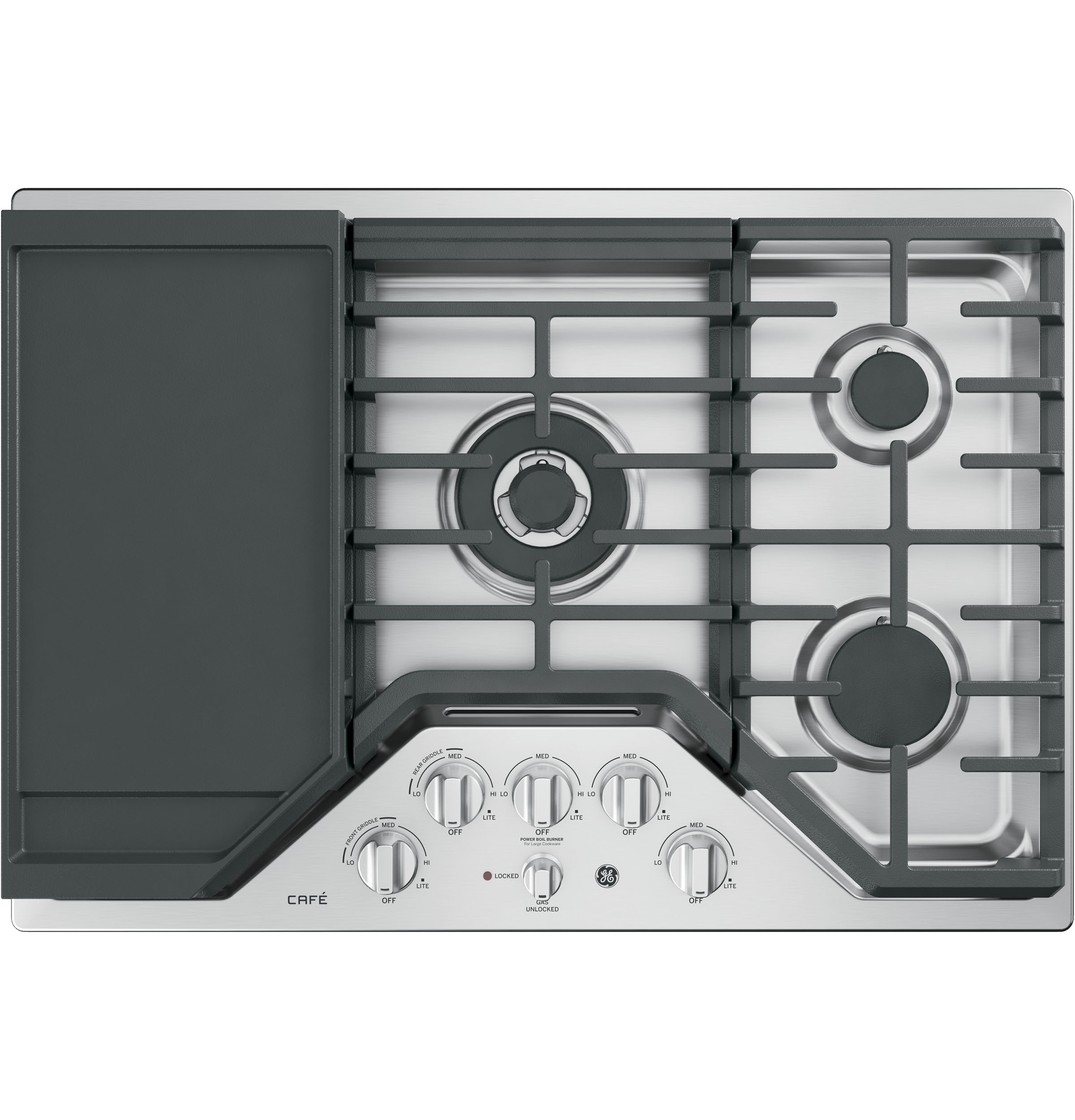 "GE Cafe GE Café™ Series 30"" Built-In Gas Cooktop"