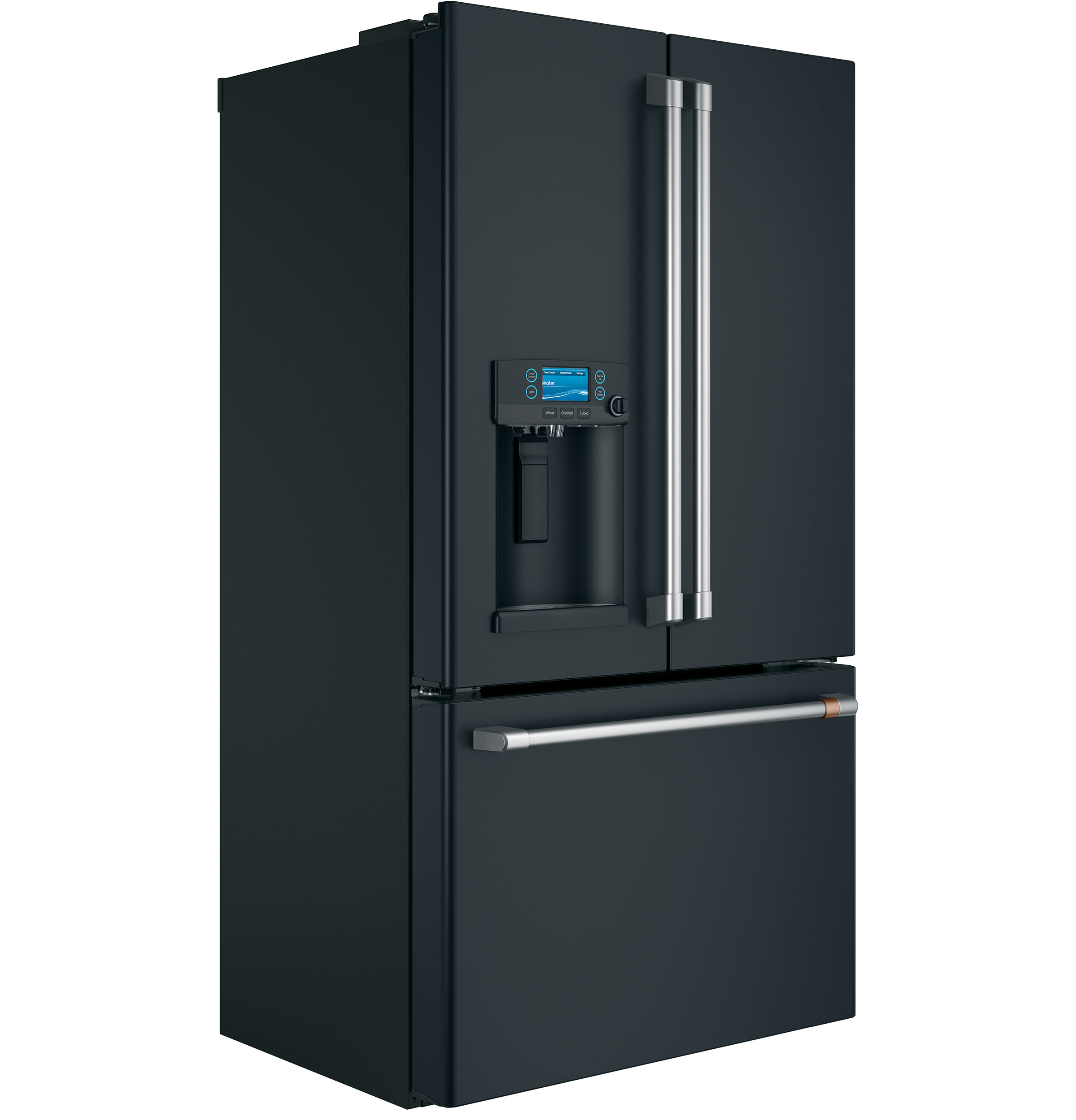 Model: CYE22TP3MD1 | Café™ ENERGY STAR® 22.2 Cu. Ft. Counter-Depth French-Door Refrigerator with Hot Water Dispenser