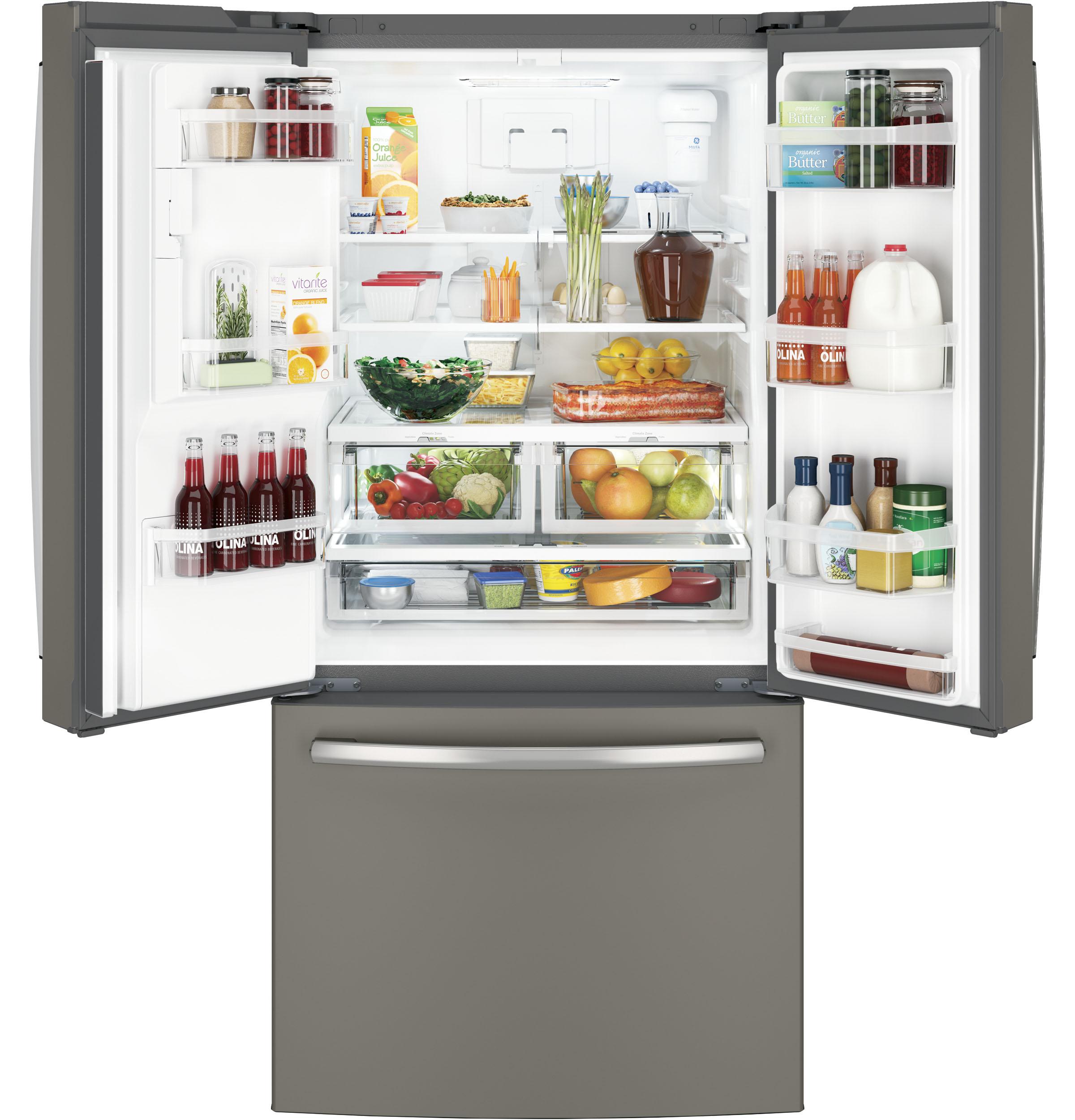 Model: GYE18JMLES | GE® ENERGY STAR® 17.5 Cu. Ft. Counter-Depth French-Door Refrigerator