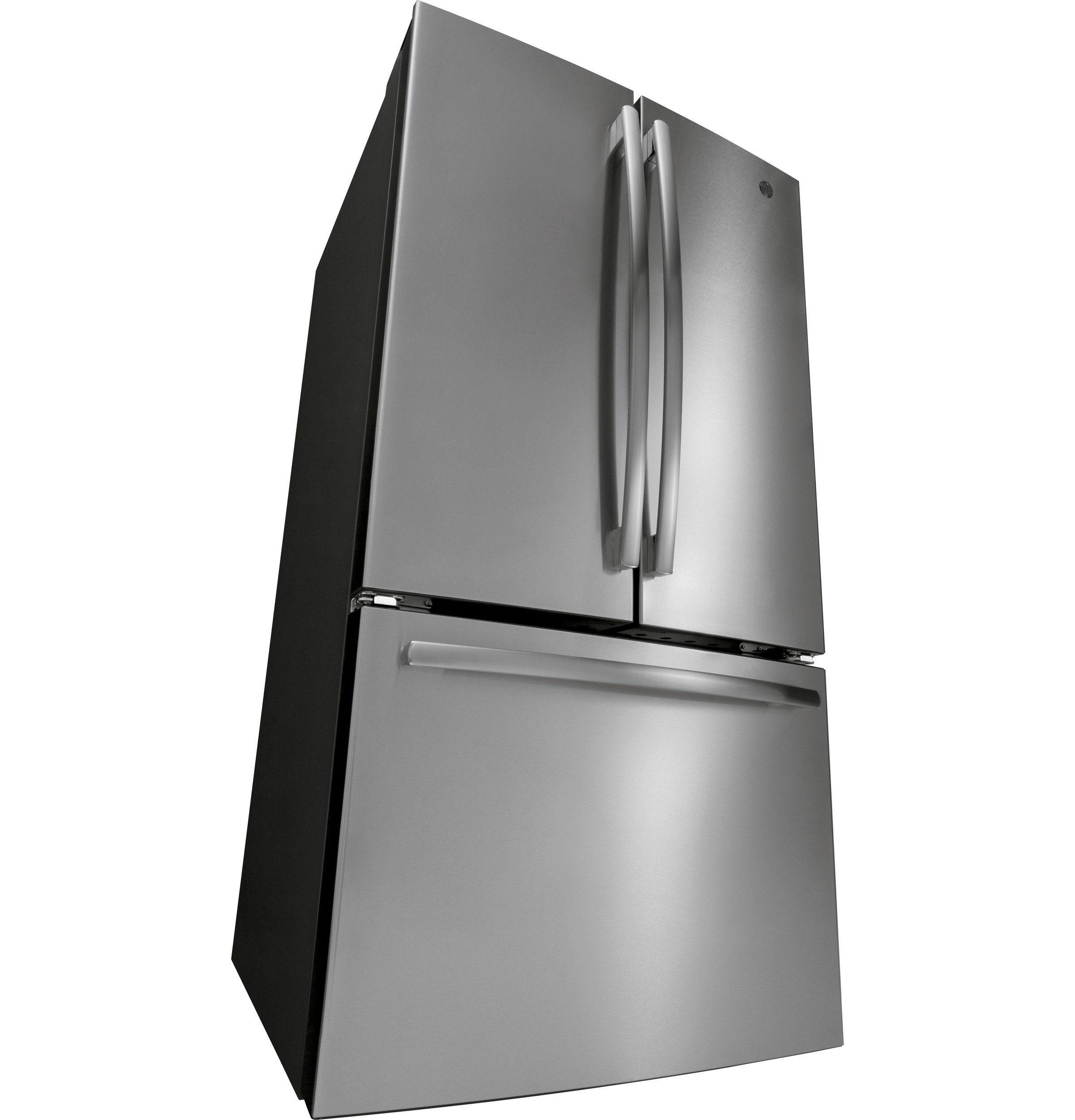Model: GNE27JSMSS | GE® ENERGY STAR® 27.0 Cu. Ft. French-Door Refrigerator