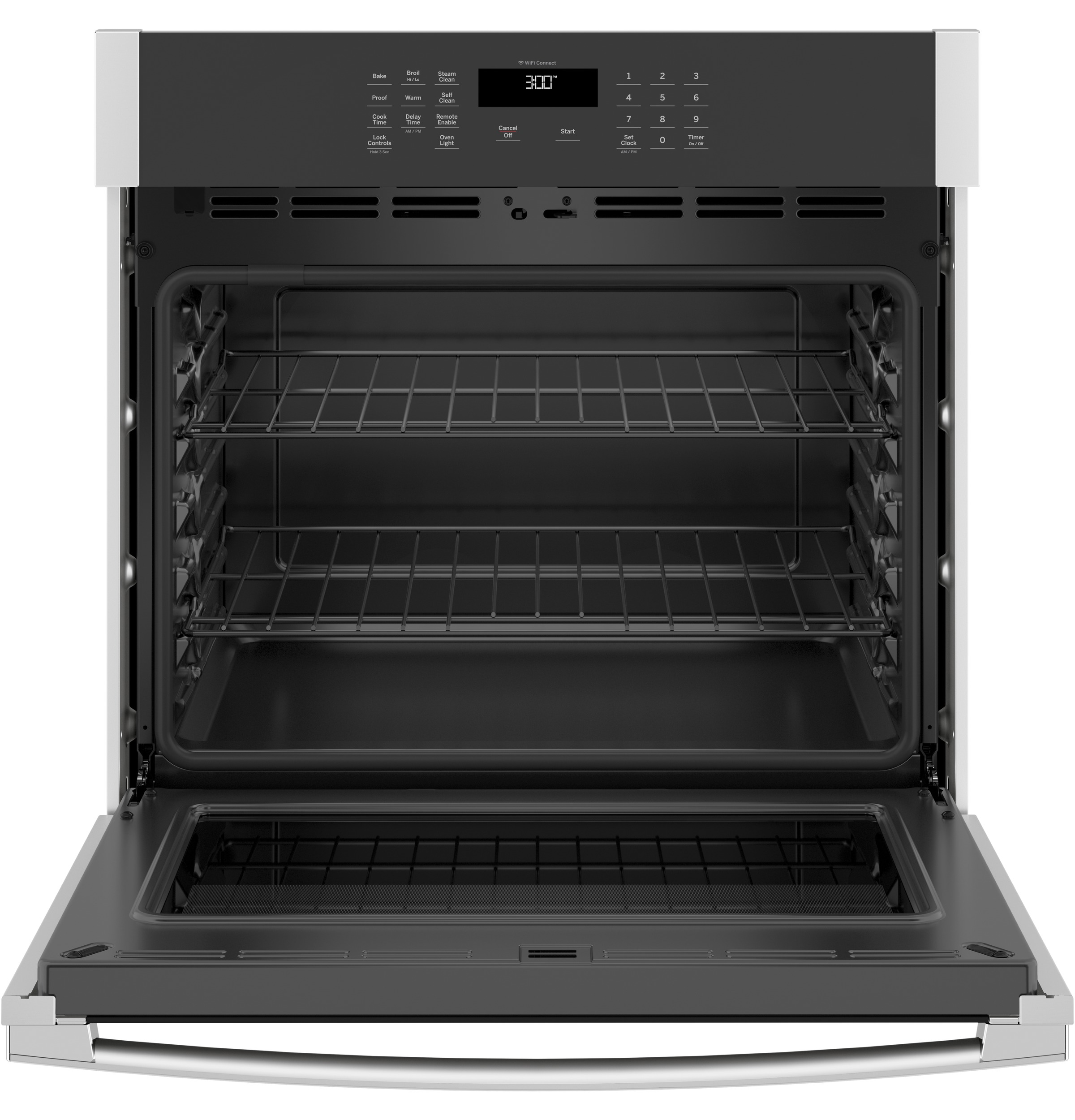 "Model: JTS3000SNSS | GE GE® 30"" Smart Built-In Self-Clean Single Wall Oven with Never-Scrub Racks"