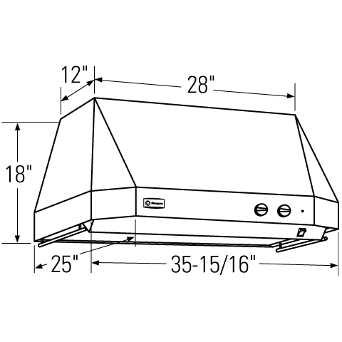 "Model: ZV36TSFSS | Monogram Monogram 36"" Stainless Steel Professional Hood"