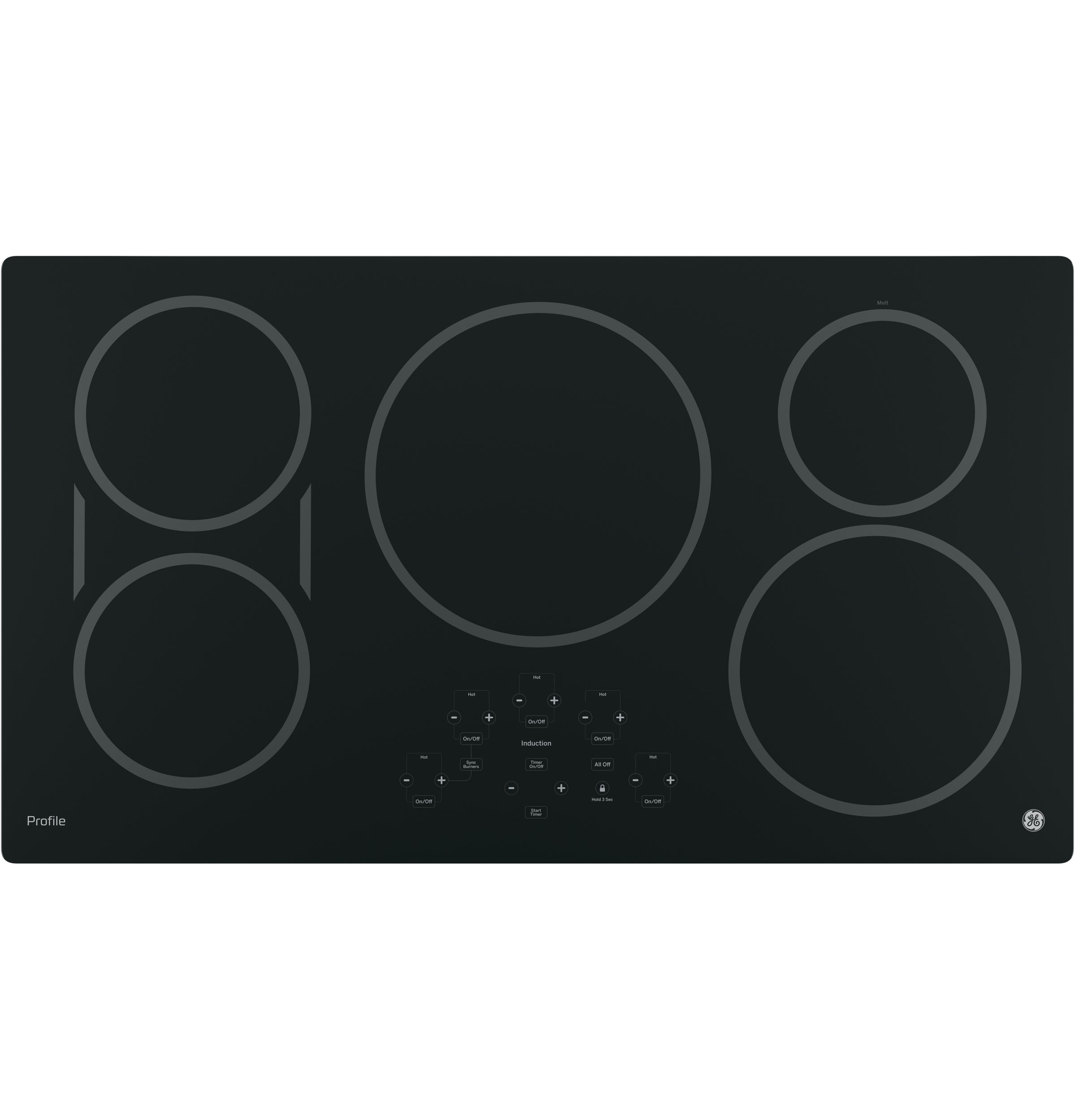"Profile GE Profile™ 36"" Built-In Touch Control Induction Cooktop"