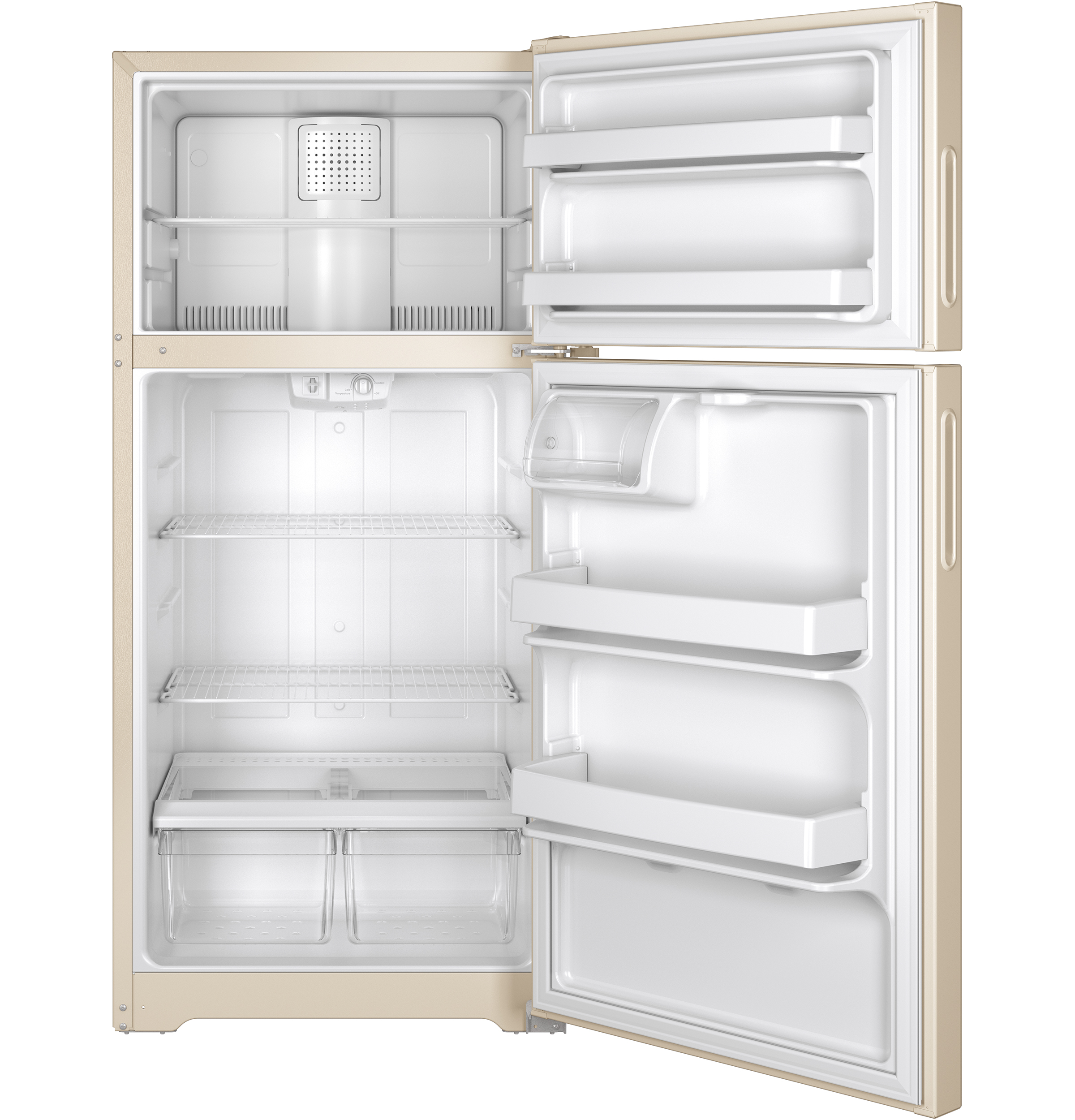 Model: HPS15BTHRCC | Hotpoint® 14.6 Cu. Ft. Recessed Handle Top-Freezer Refrigerator