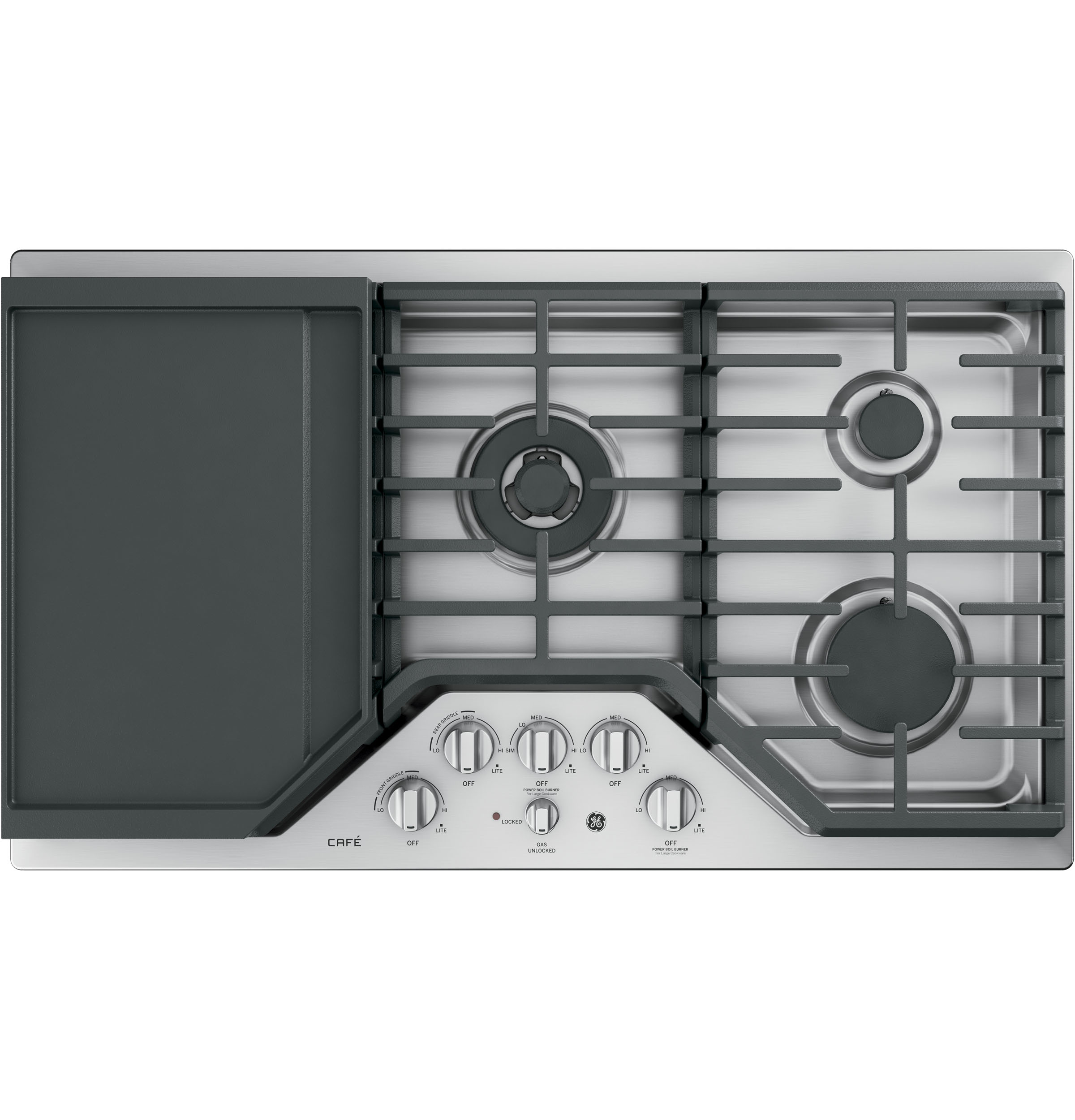 "GE Cafe GE Café™ Series 36"" Built-In Gas Cooktop"