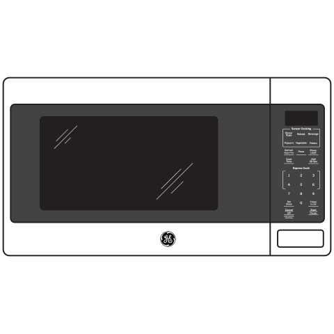 Model: JES1657DMWW | GE GE® 1.6 Cu. Ft. Countertop Microwave Oven