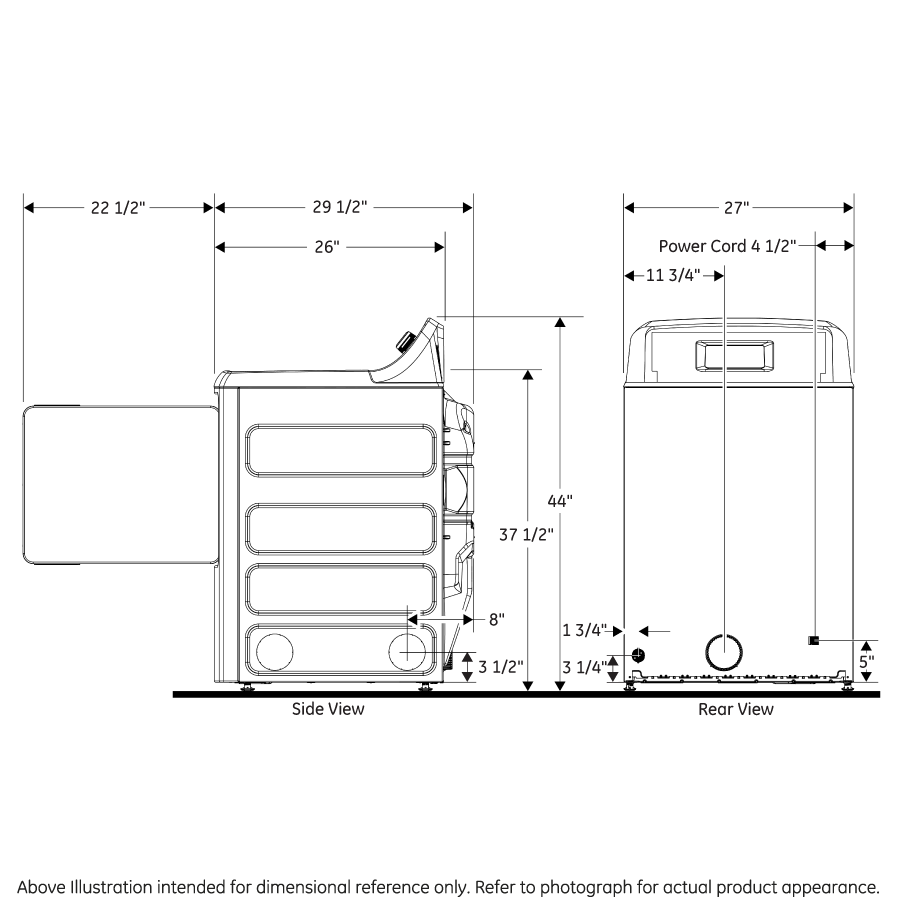 Model: GTD33GASKWW | GE GE® 7.2 cu. ft. Capacity aluminized alloy drum Gas Dryer