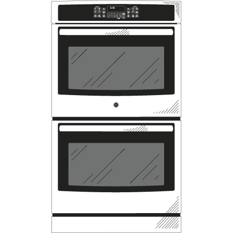 "Model: JK5500SFSS | GE GE® 27"" Built-In Double Convection Wall Oven"